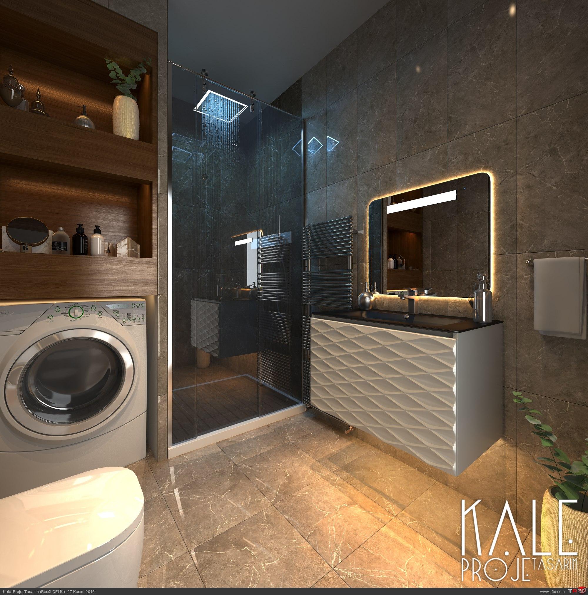 Çanakkale-2016 Banyo tasarım + render. 1