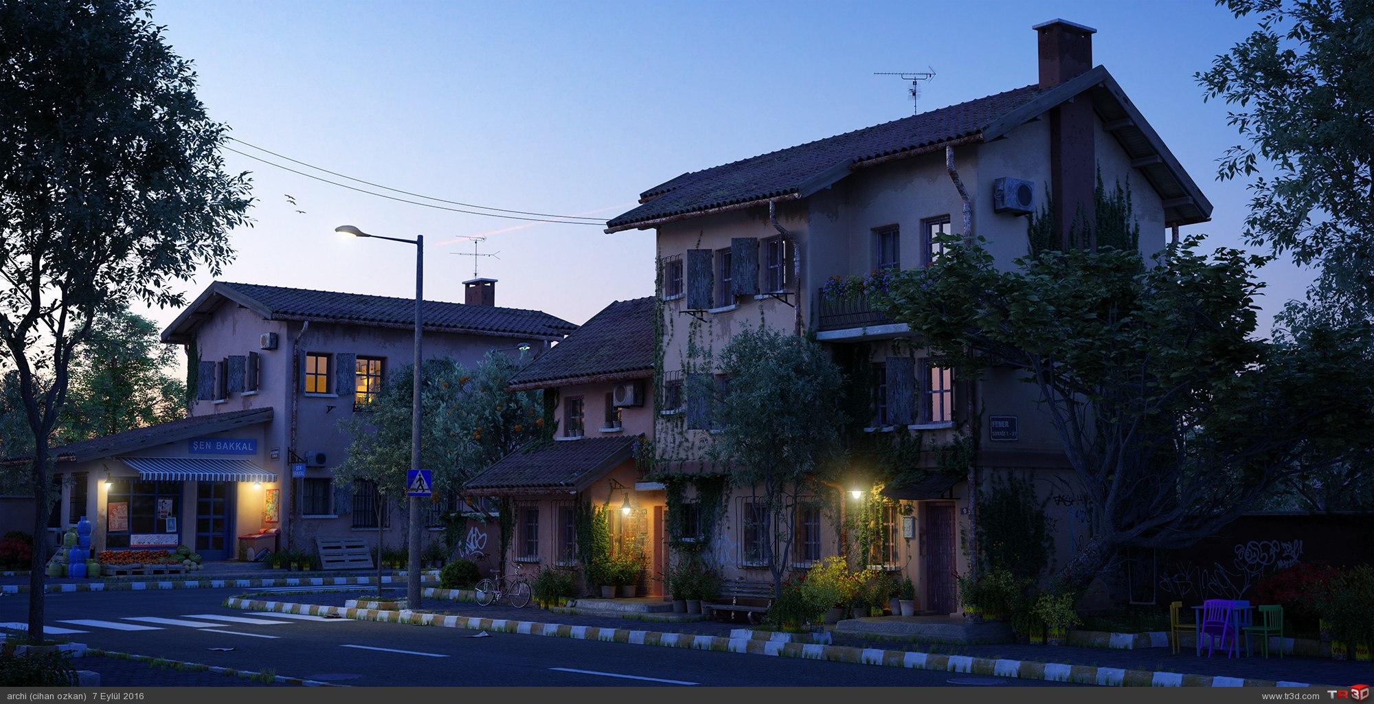 Old street Sunrise