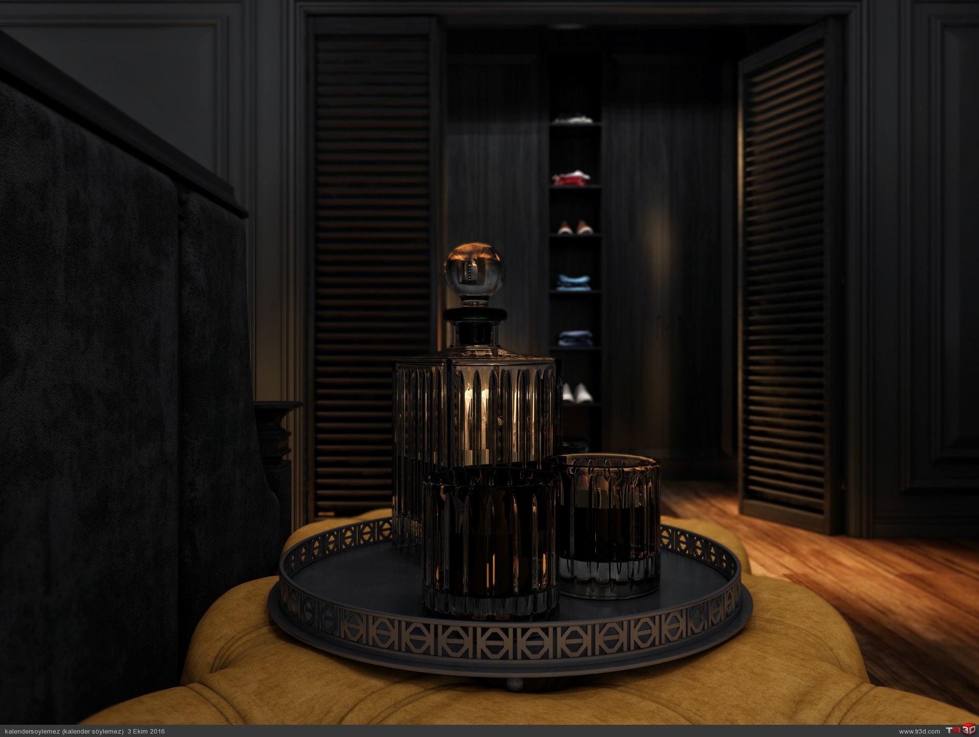 Siyah yatak odası çalışması 6