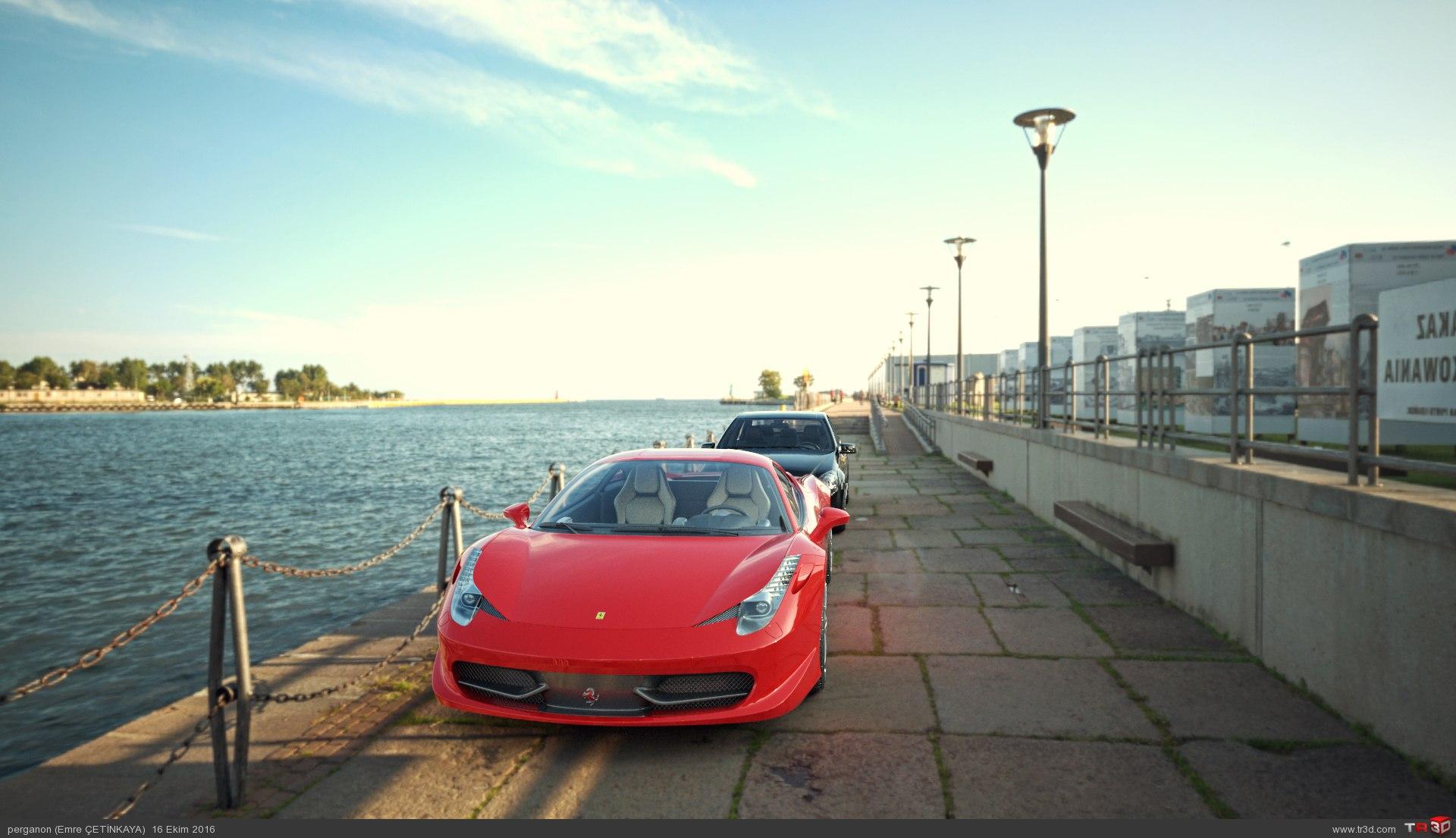 458 Italia ile Mercedes C
