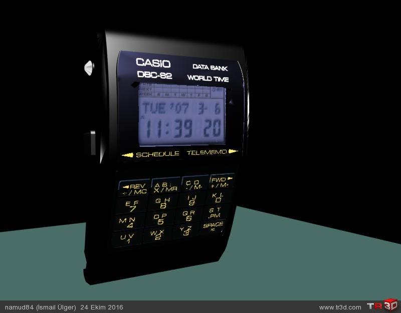 Casio dbc62 model dijital saat