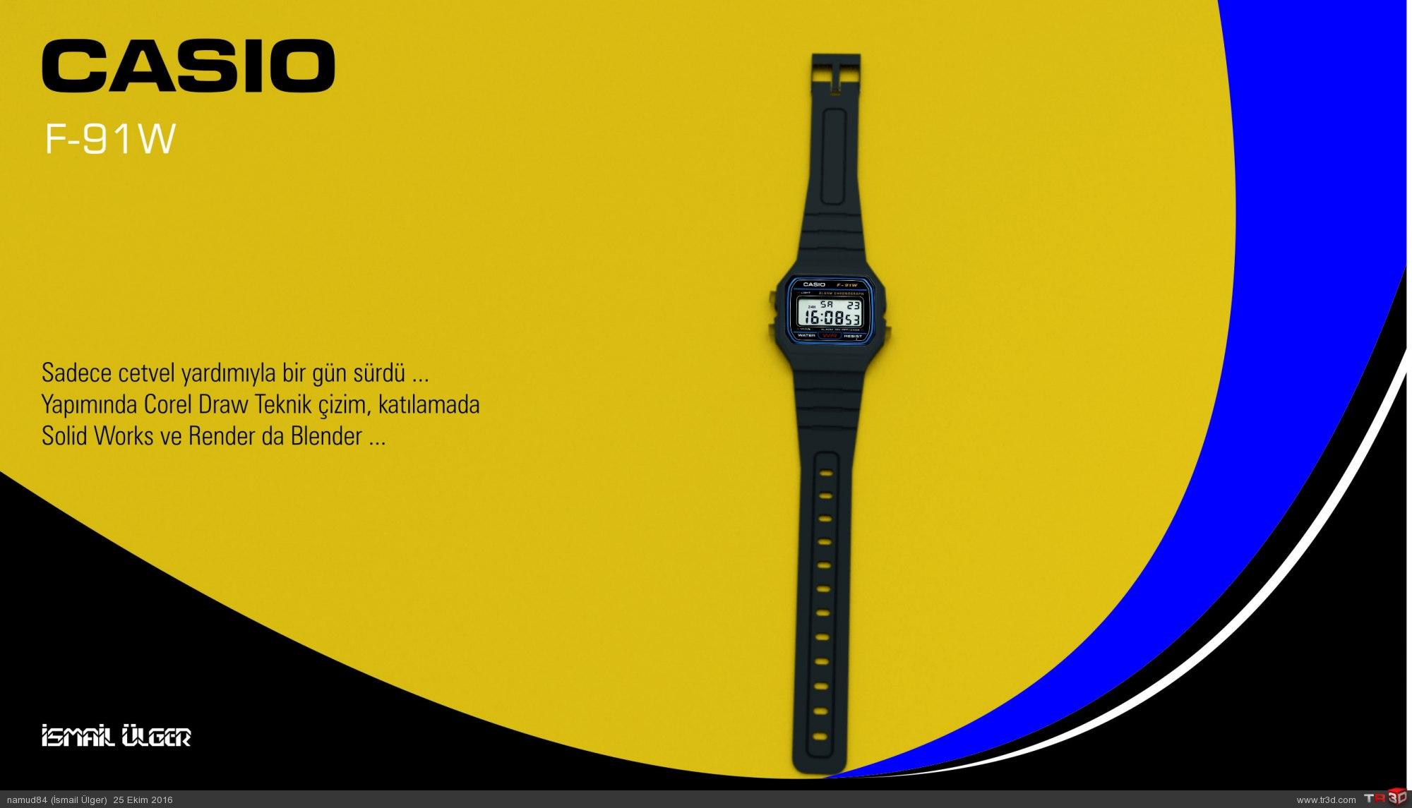 Casio F-91W Dijital Saat