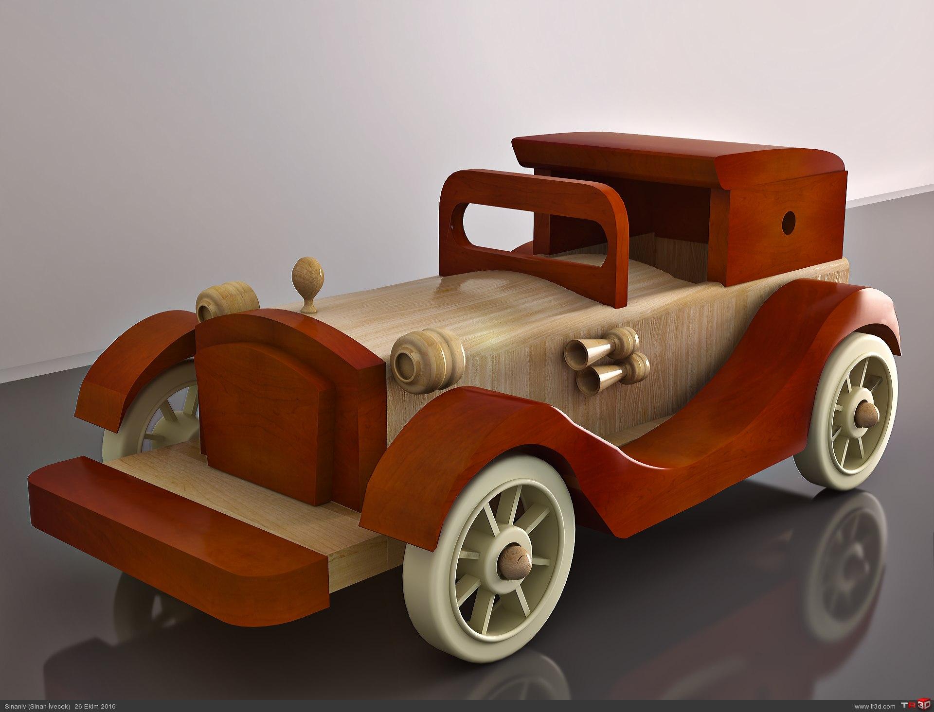 Tahta Oyuncak Araba