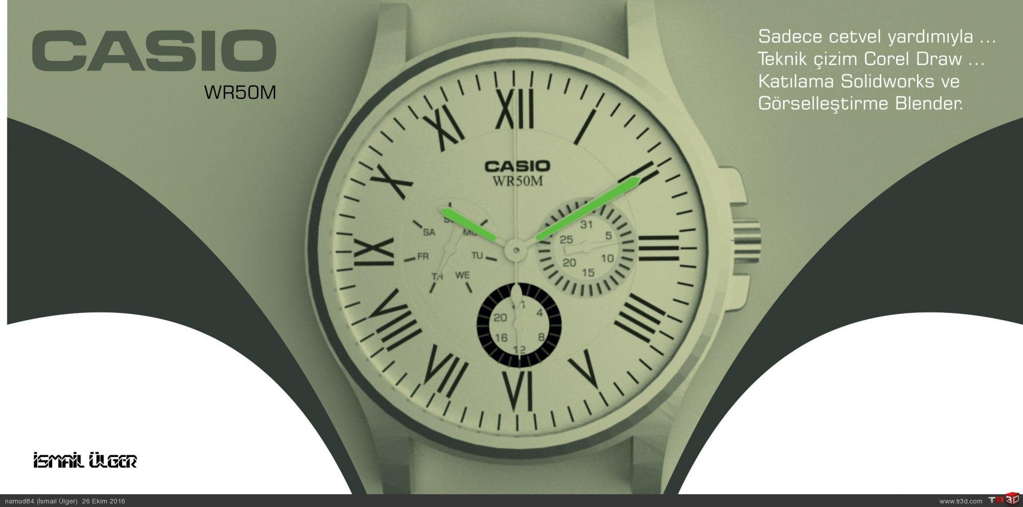 CASIO WR50M Analog saat