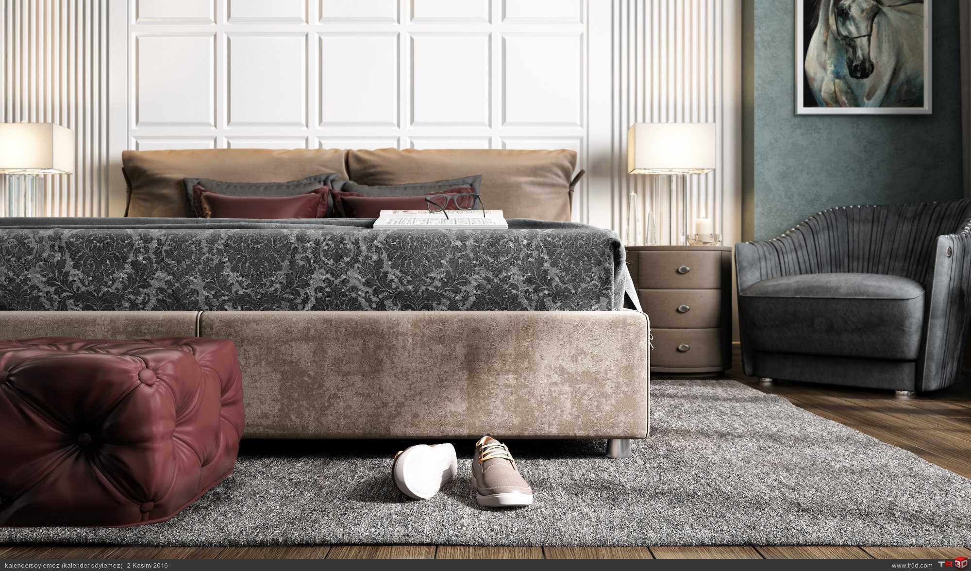 Yeşil yatak odası