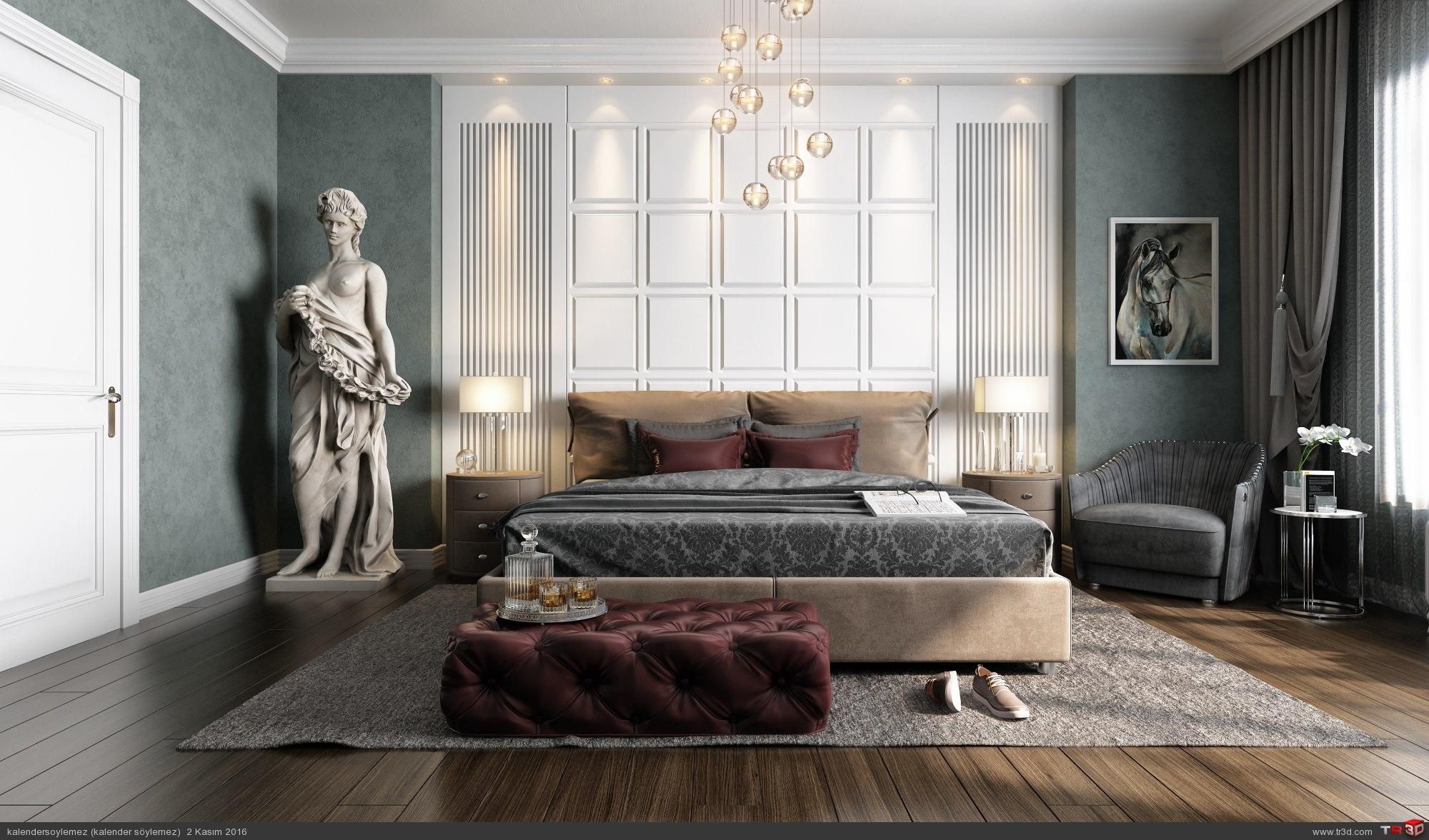 Yeşil yatak odası 1