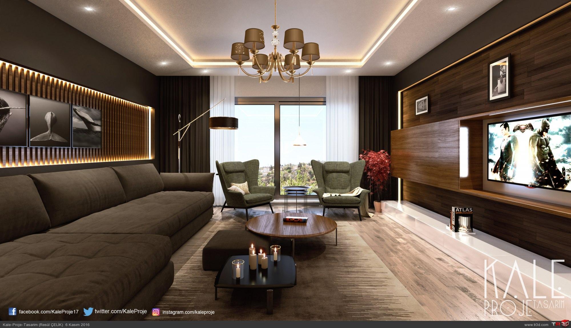İzmir 2016 Villa Salon renderi.