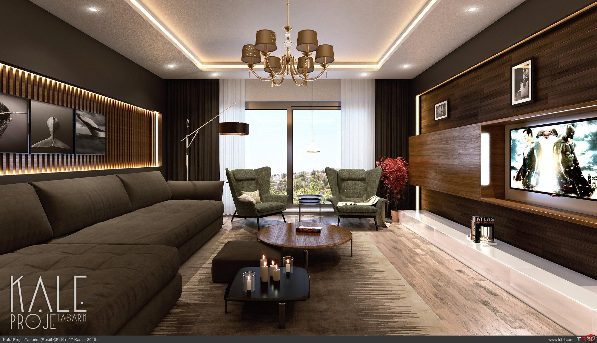 İzmir 2016 Villa Salon renderi. 1