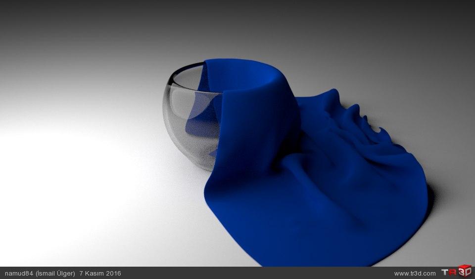 Cam kase ve kumaş