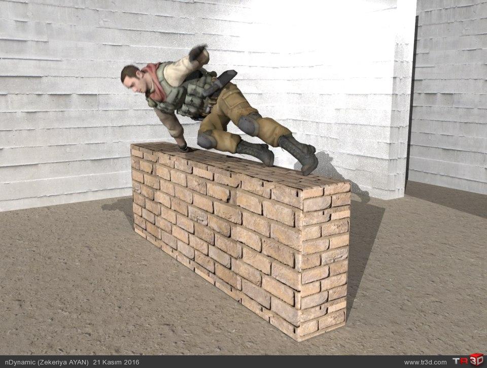 Duvarın üstünden atlam