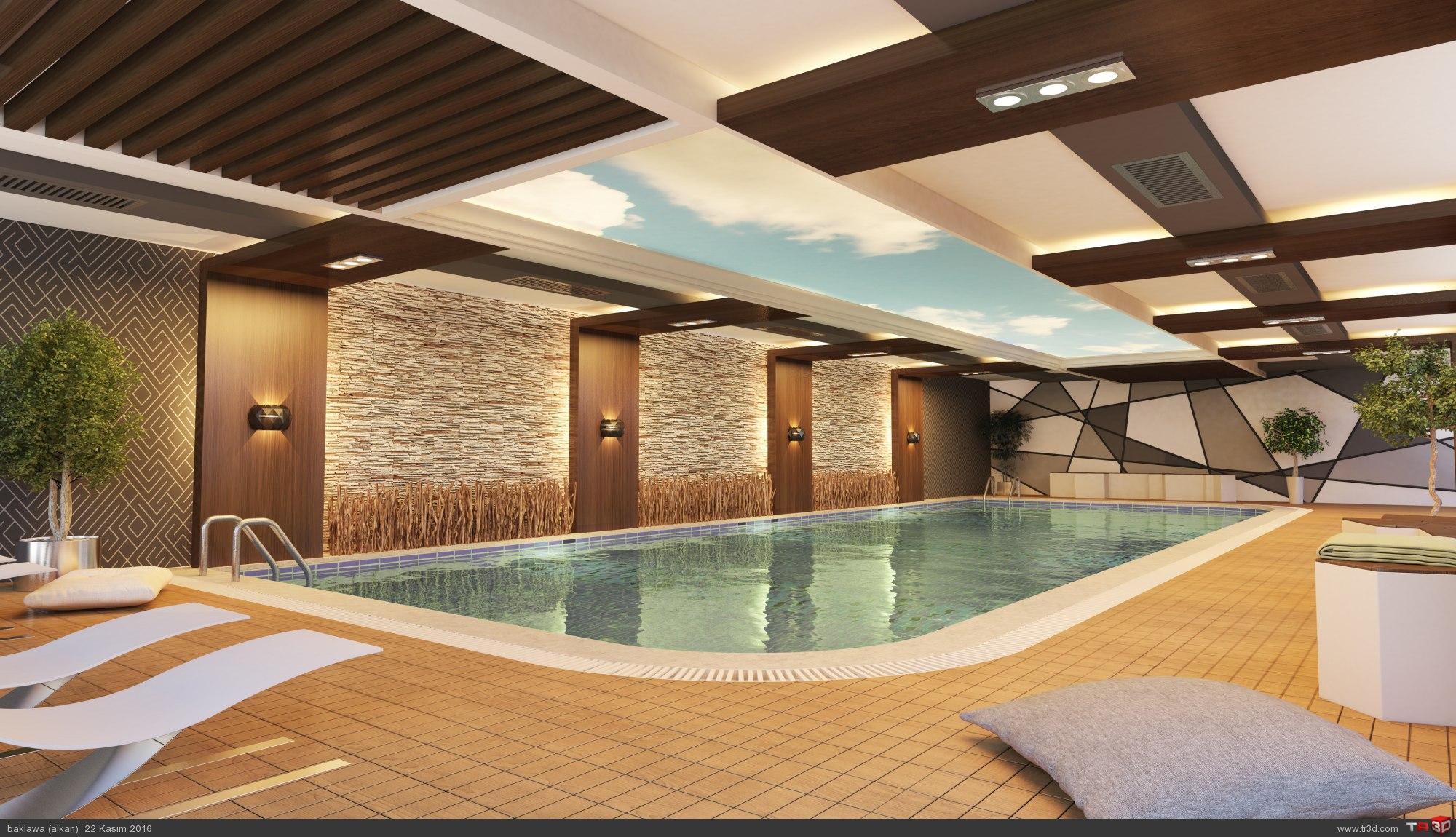 residence kapalı havuz