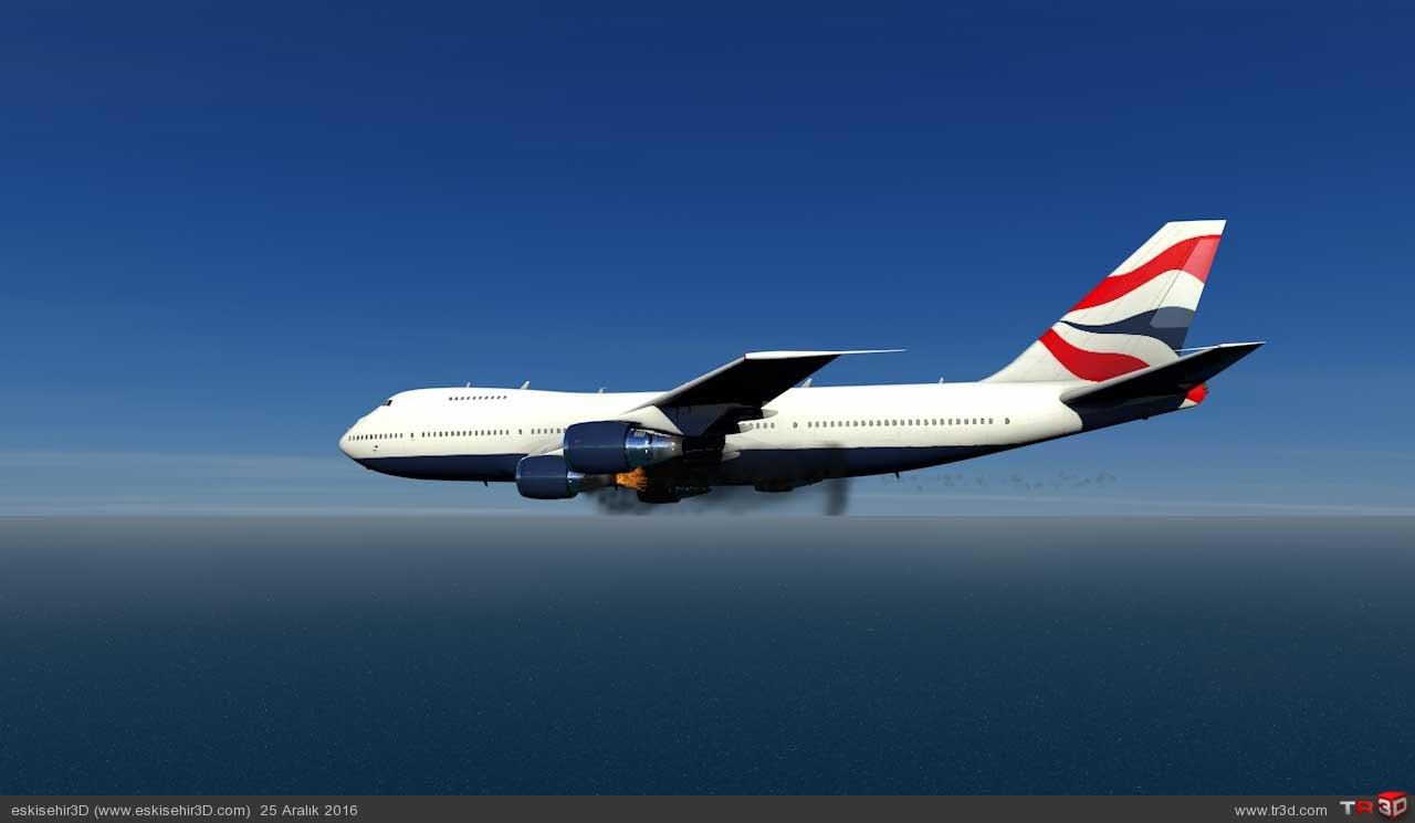 Uçak Kazası Animasyonu