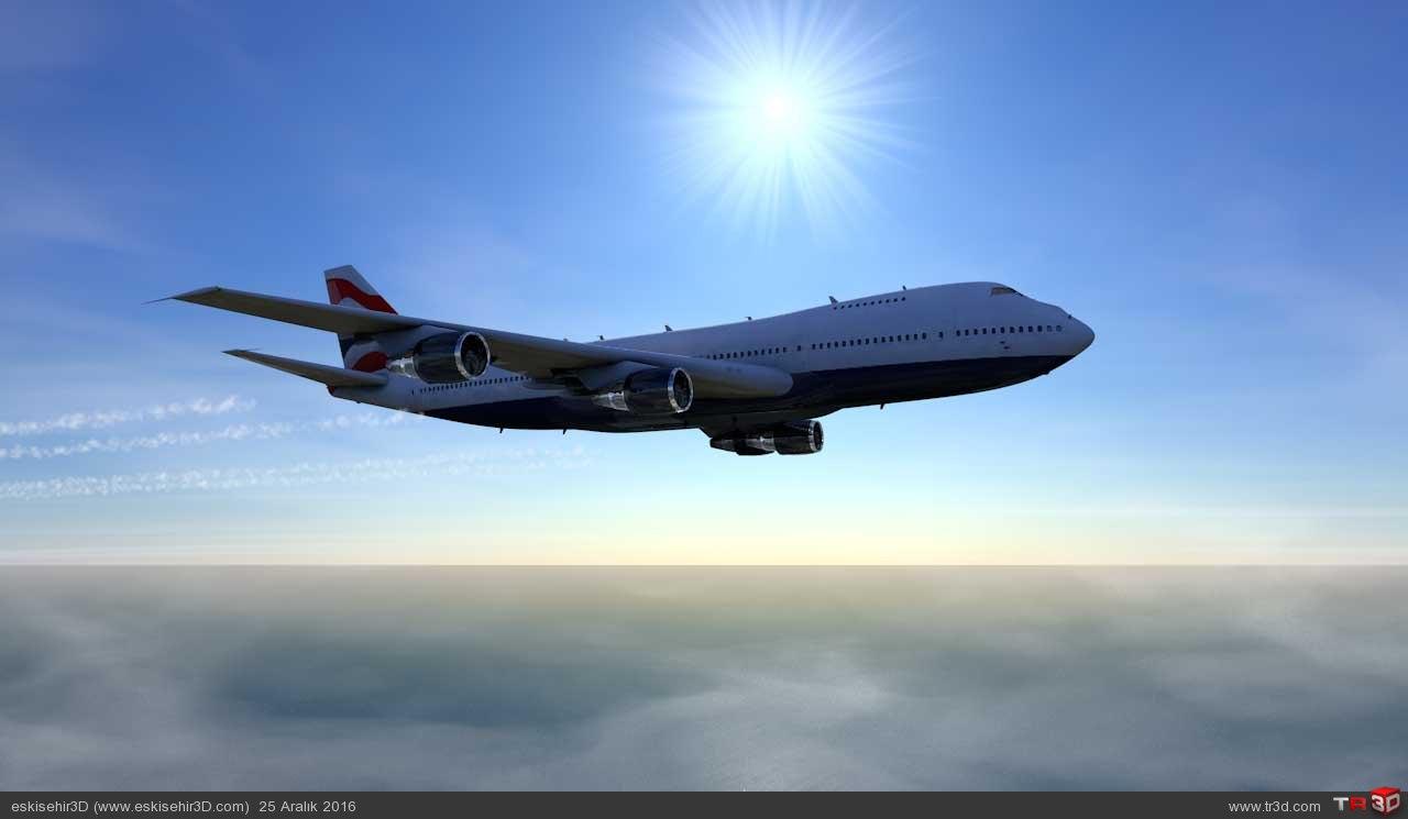Uçak Kazası Animasyonu 1