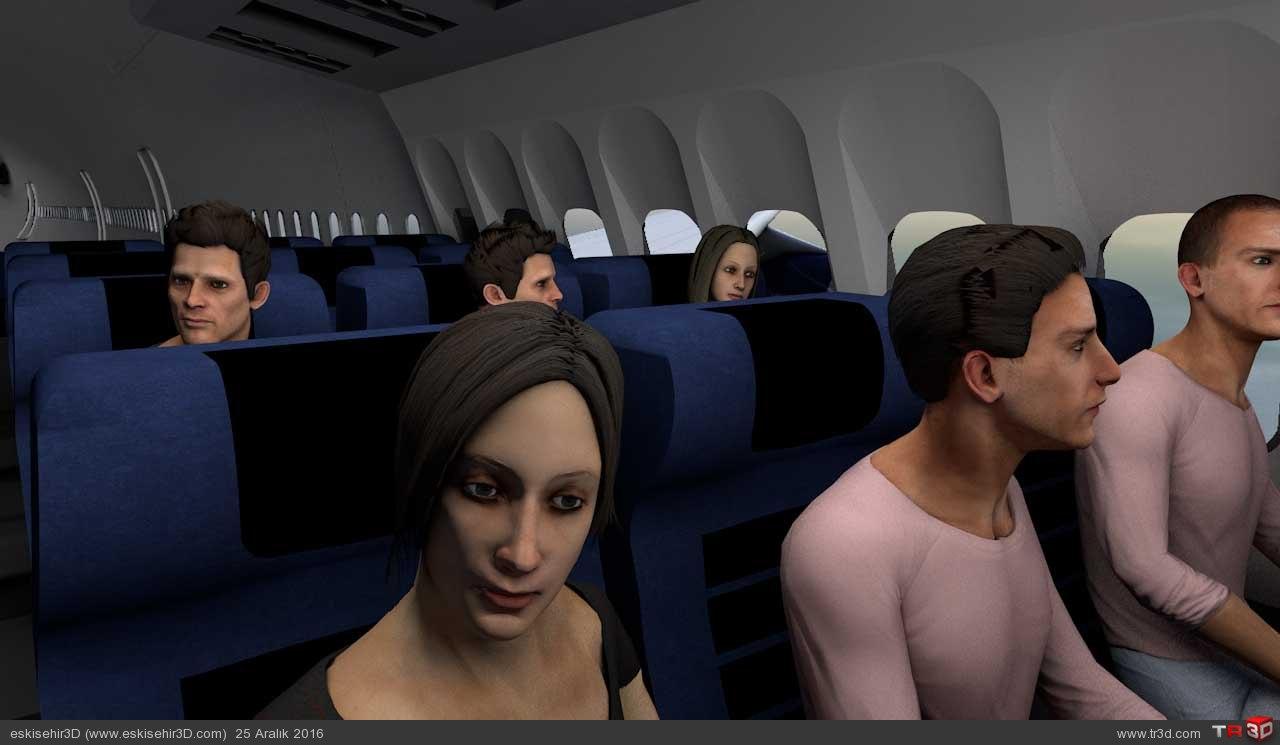 Uçak Kazası Animasyonu 2