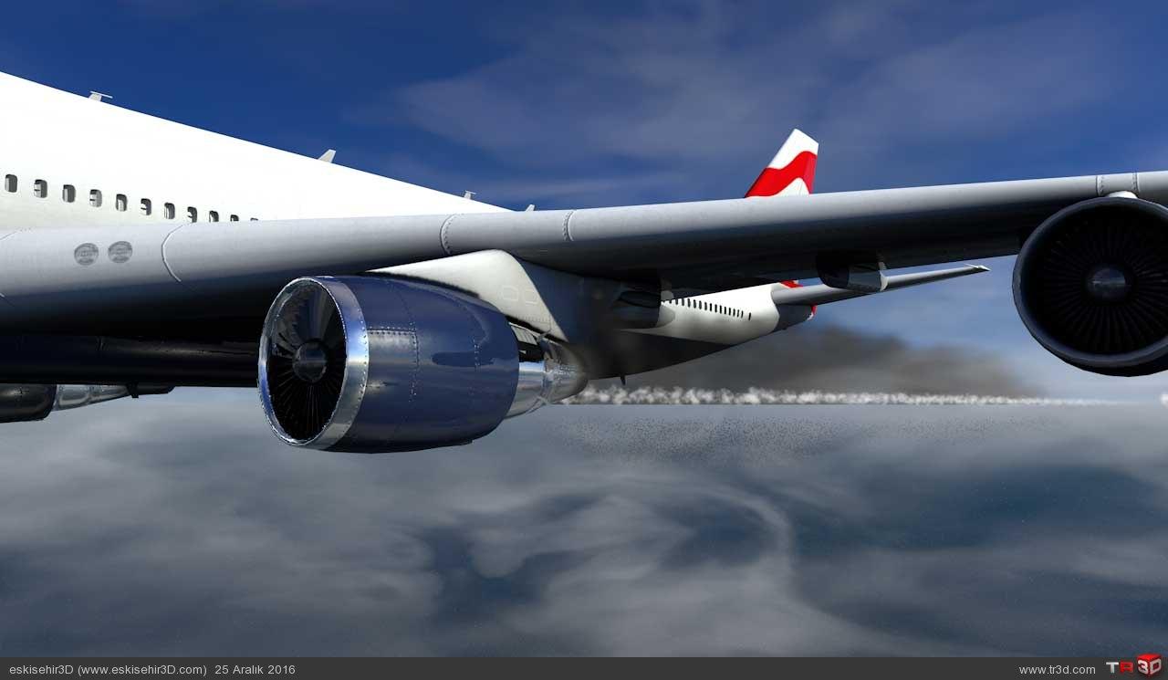 Uçak Kazası Animasyonu 3