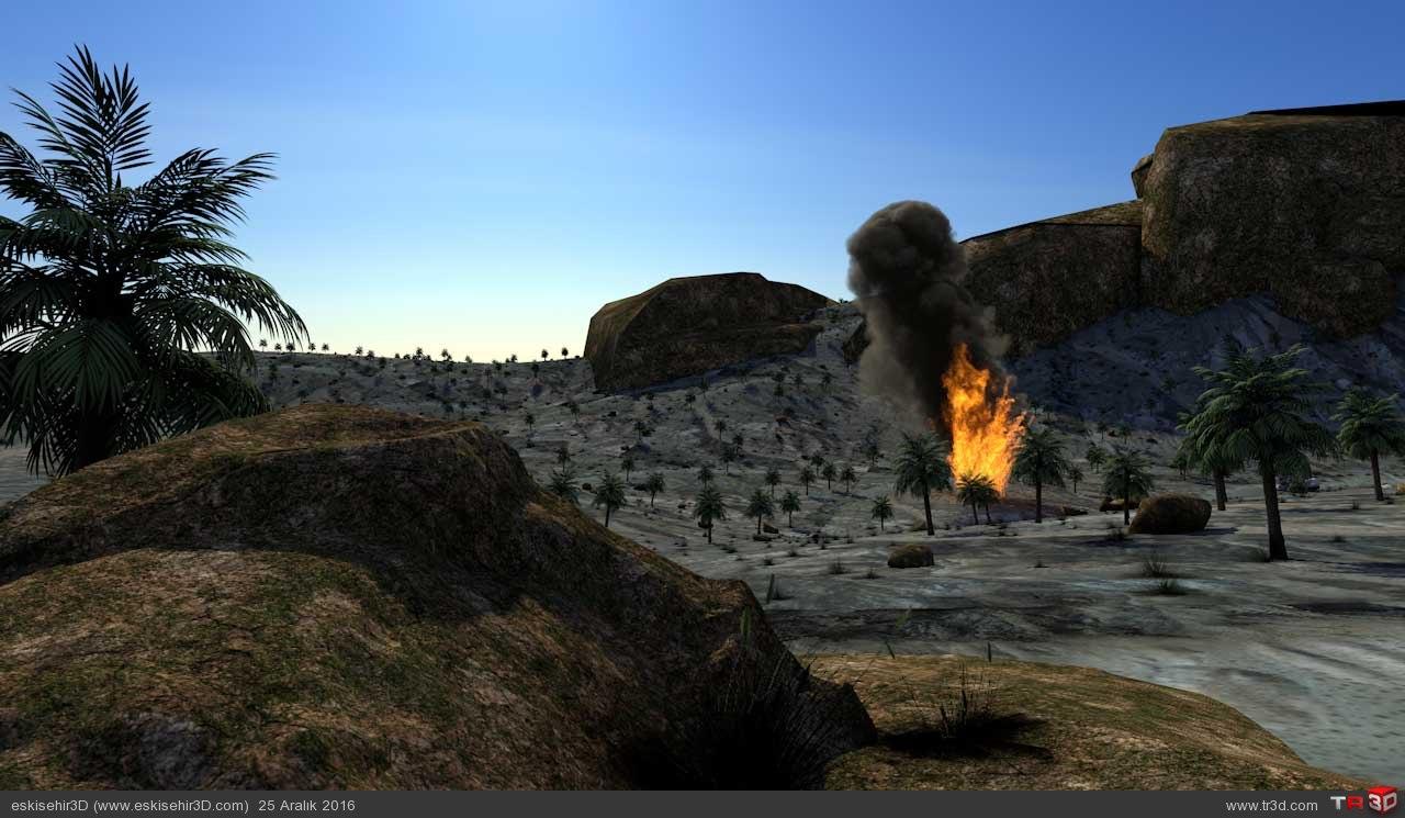 Uçak Kazası Animasyonu 5