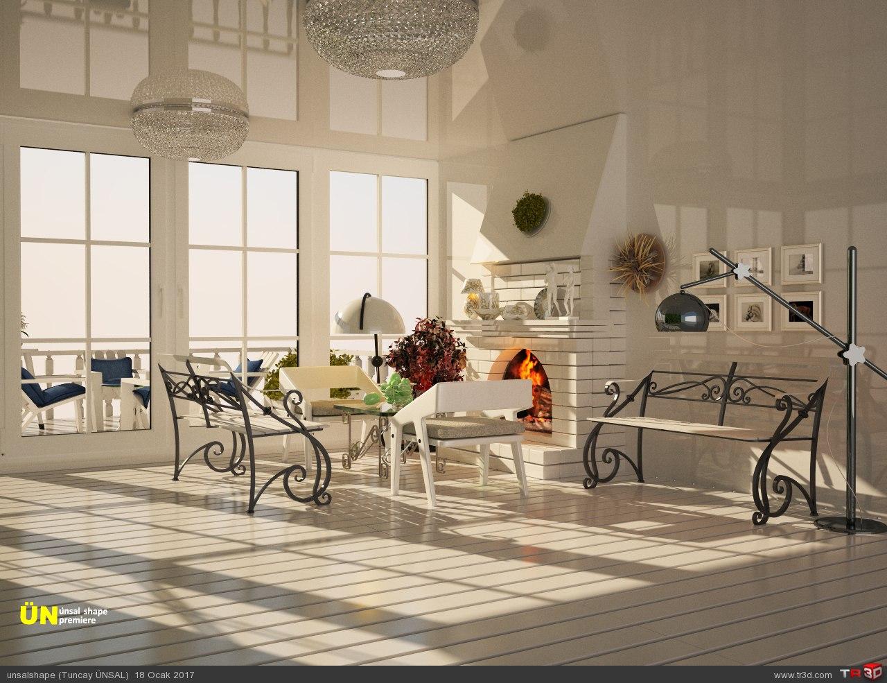 Beyaz salon