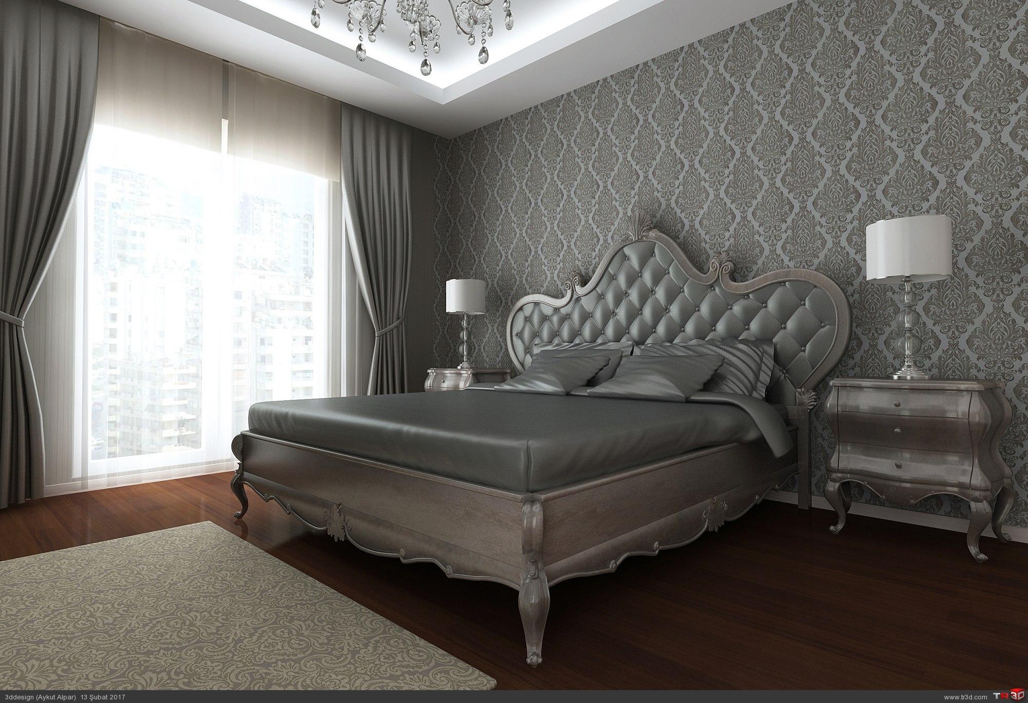 Gümüş Avangard Yatak Odası
