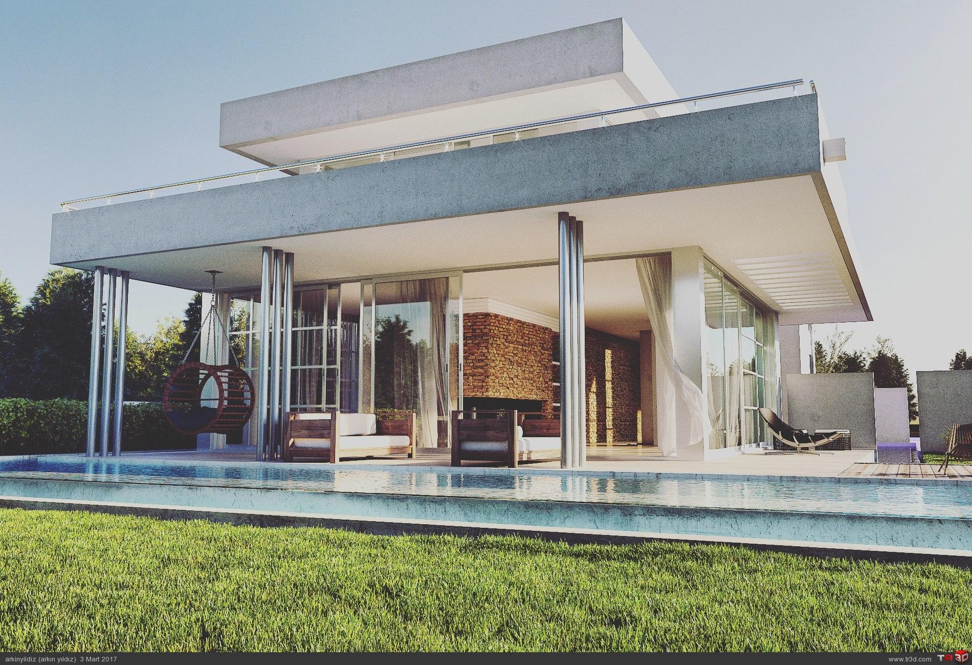 Modern Riverside House - Güncel