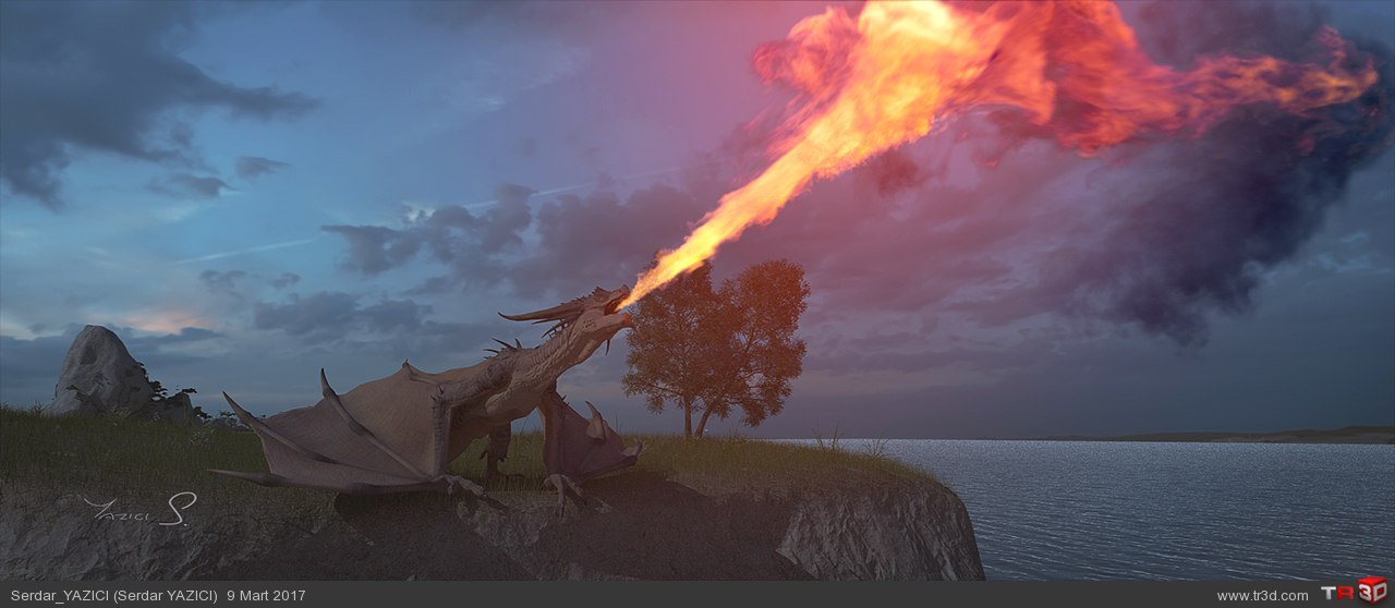 Dragon VFX Shot + Breakdown 1