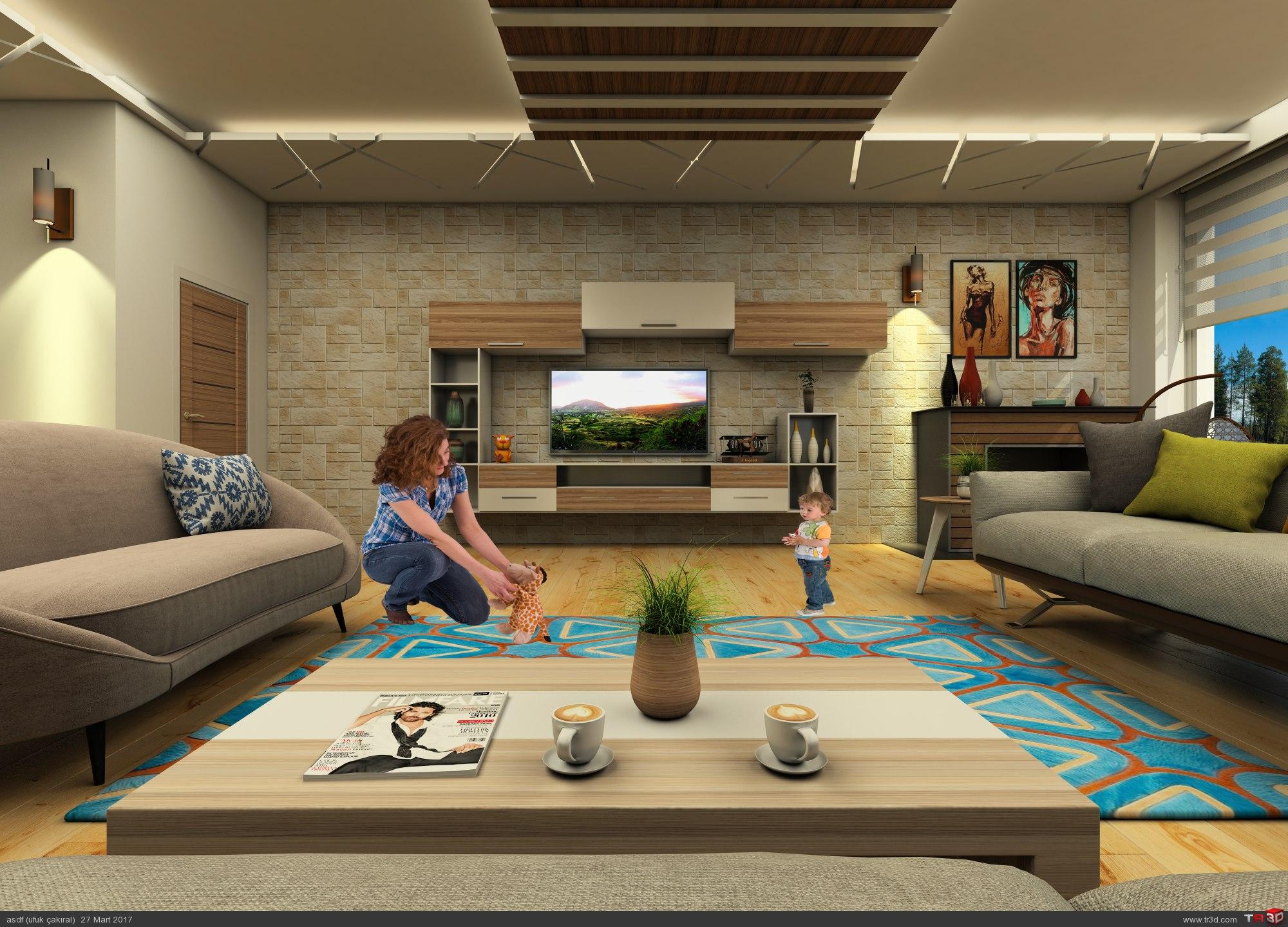 Villa iç mekan tasarımı 1