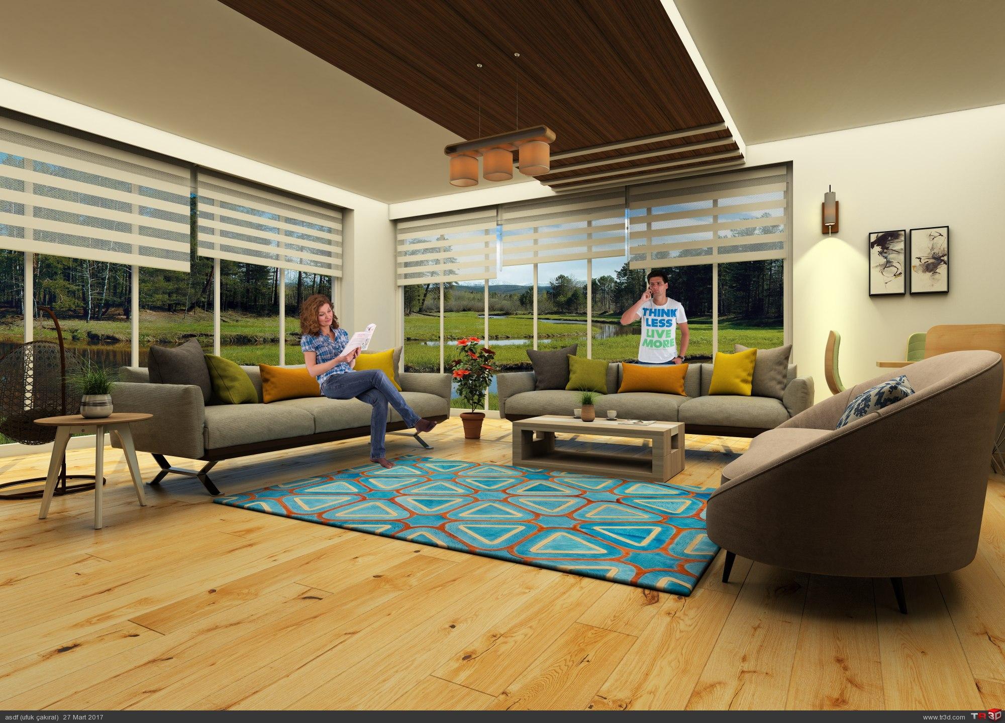 Villa iç mekan tasarımı 2