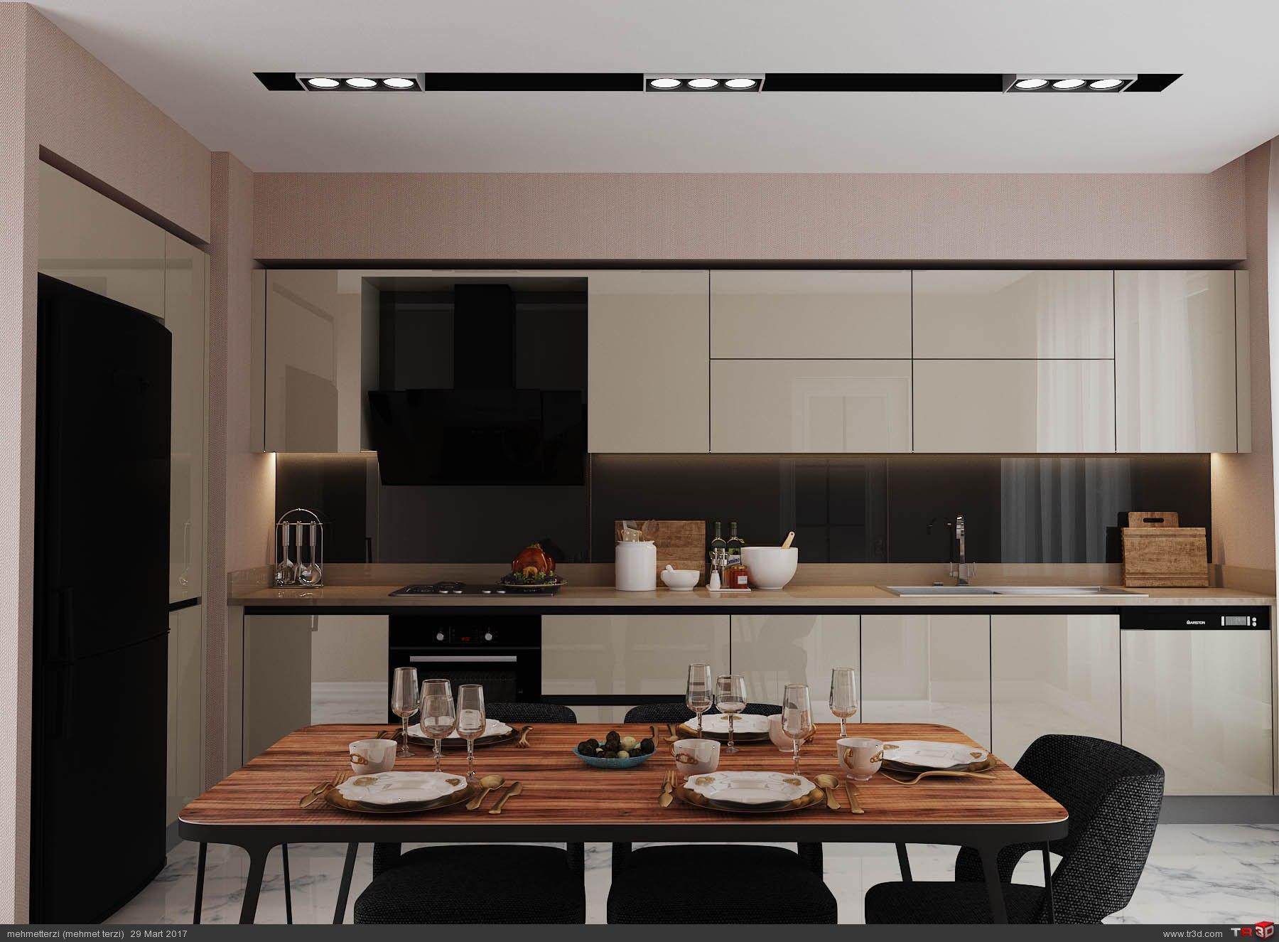 R.K. örnek daire tasarım 2