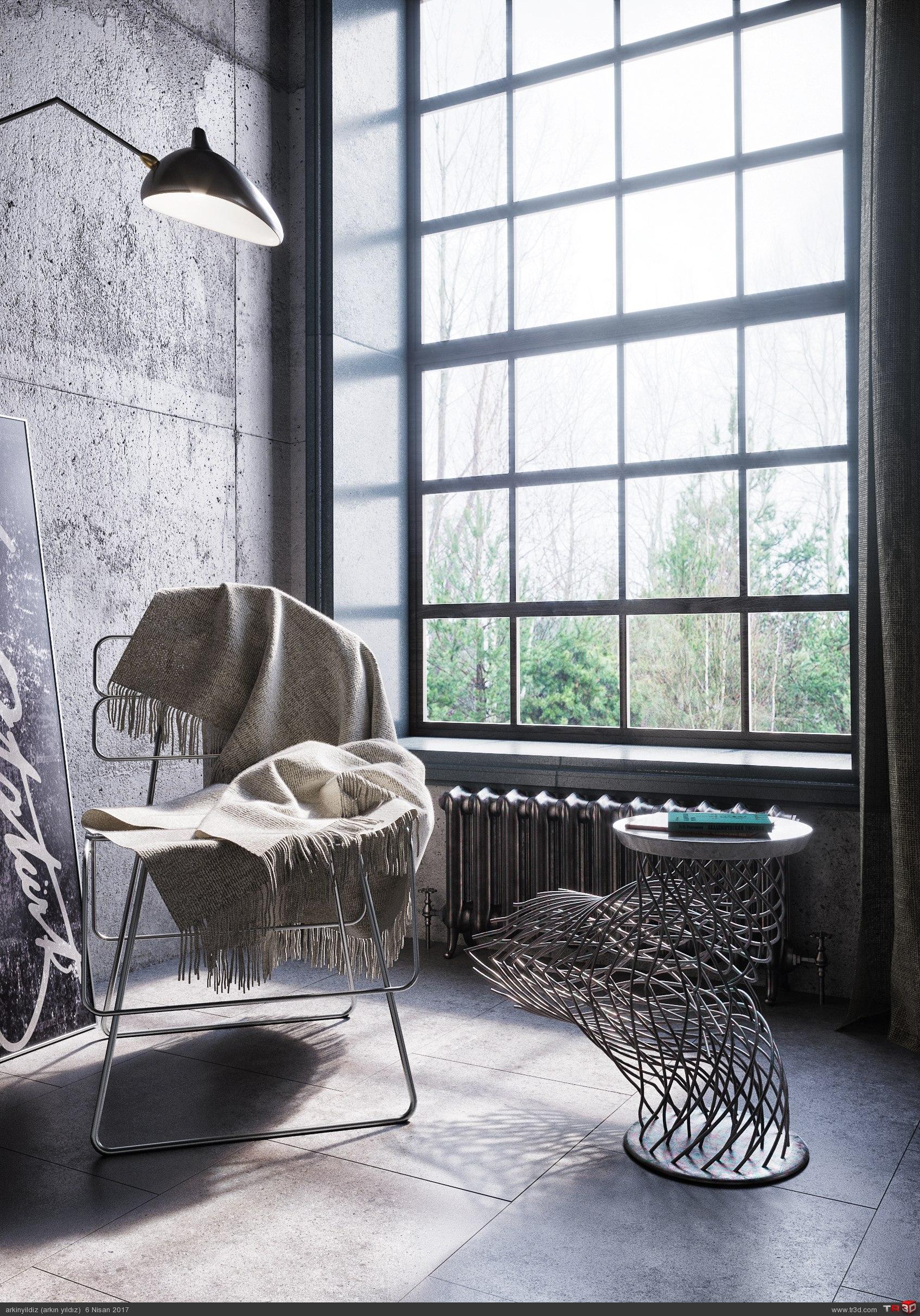 İnterior Design - Concrete & Metal