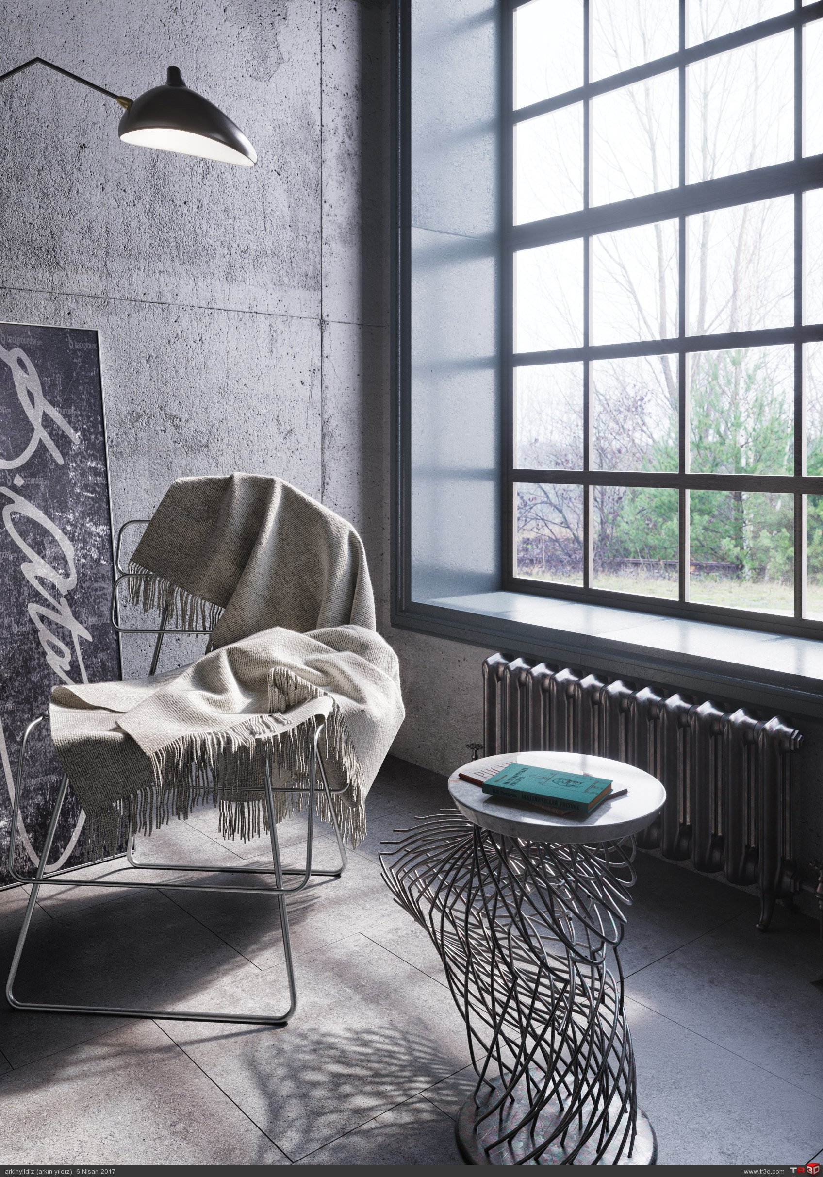 İnterior Design - Concrete & Metal 1