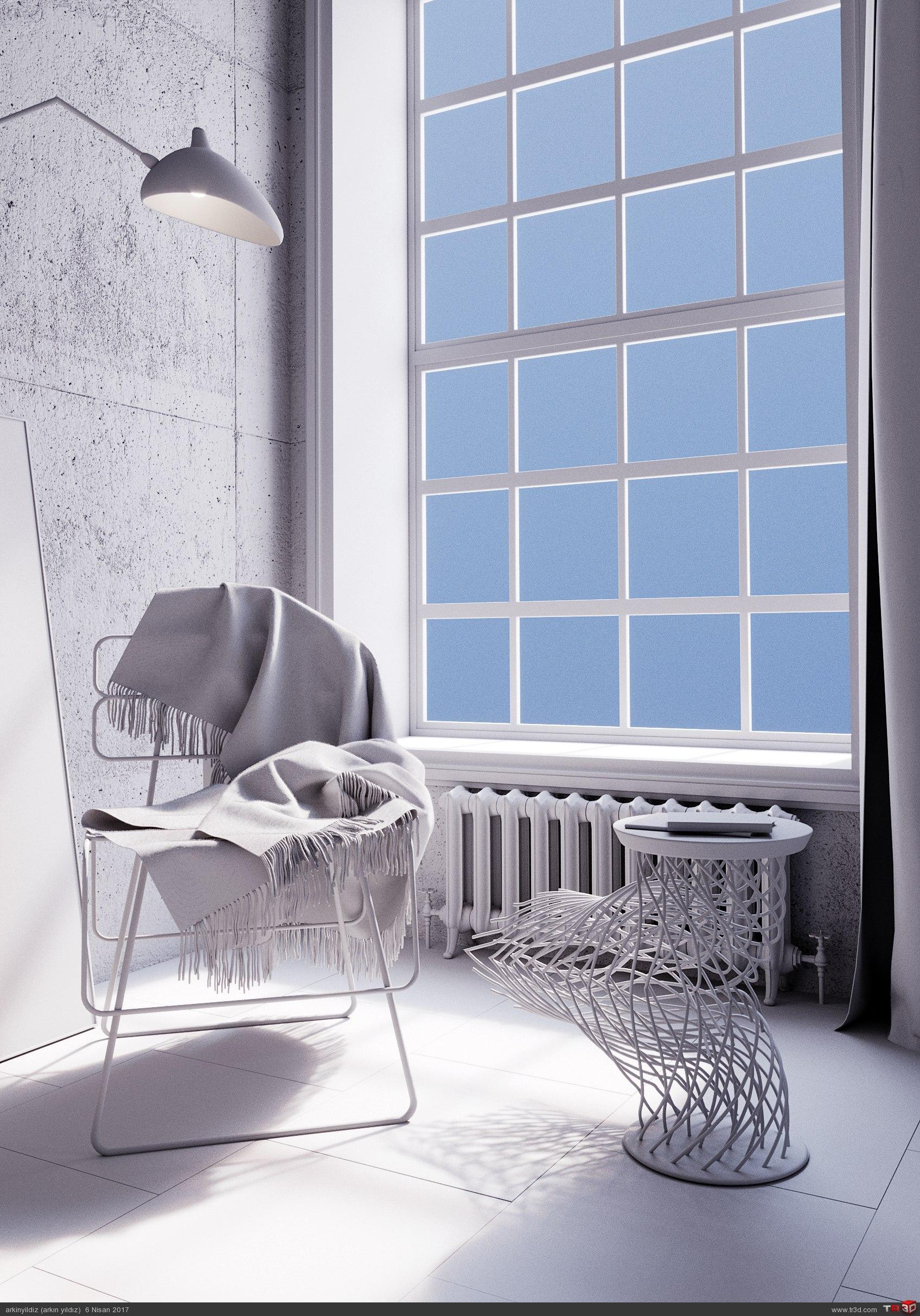İnterior Design - Concrete & Metal 4
