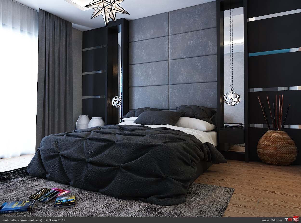 S.H yatak odası tasarımı 1