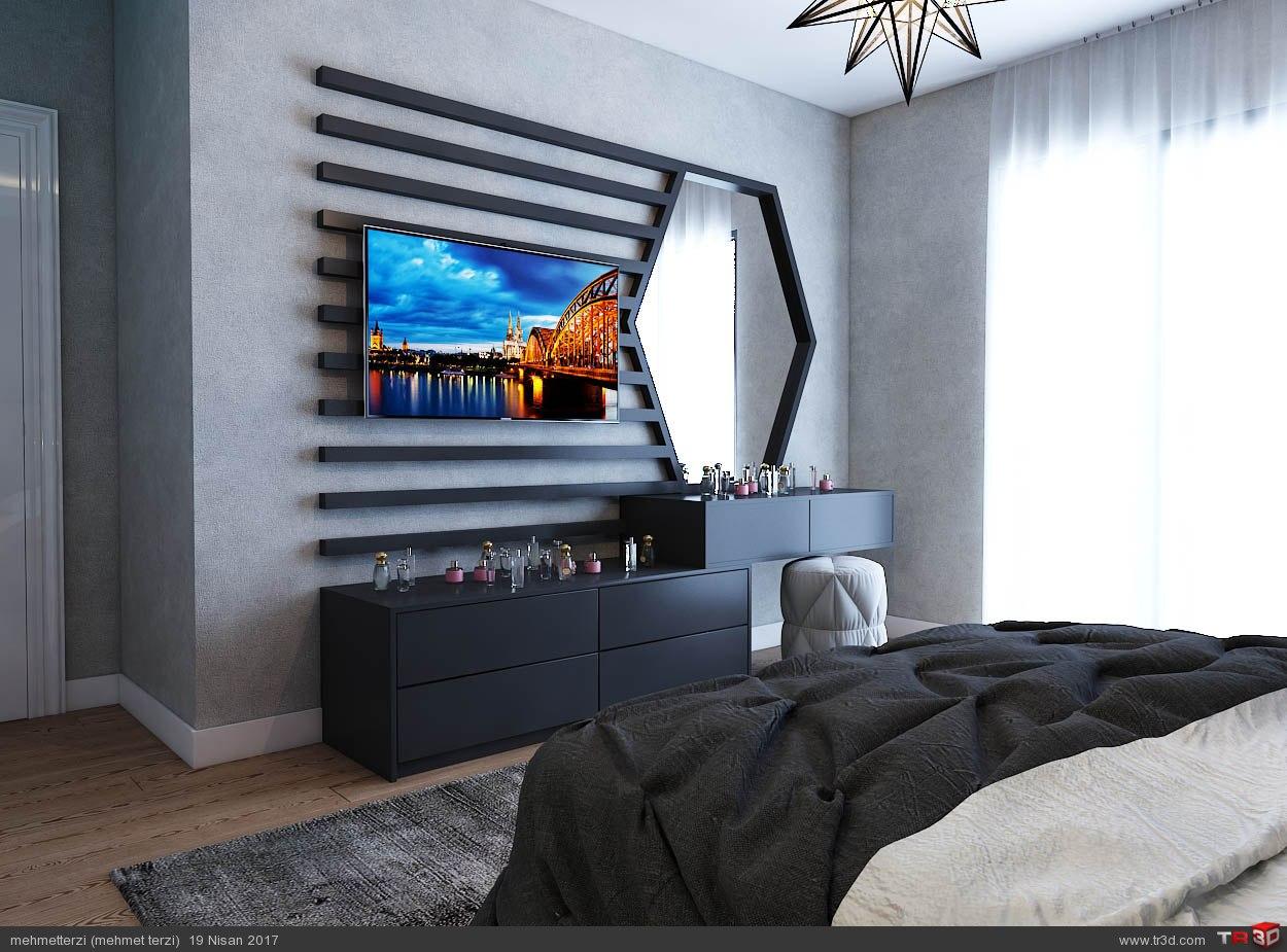 S.H yatak odası tasarımı 2