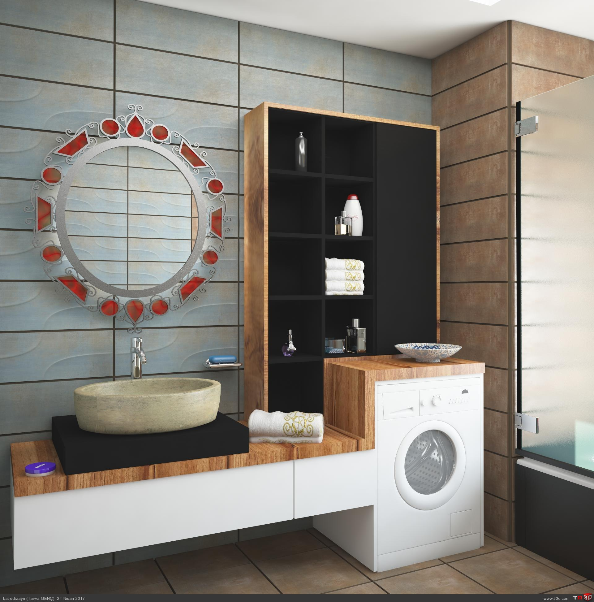 Müşteri banyo dolabı tasarımı