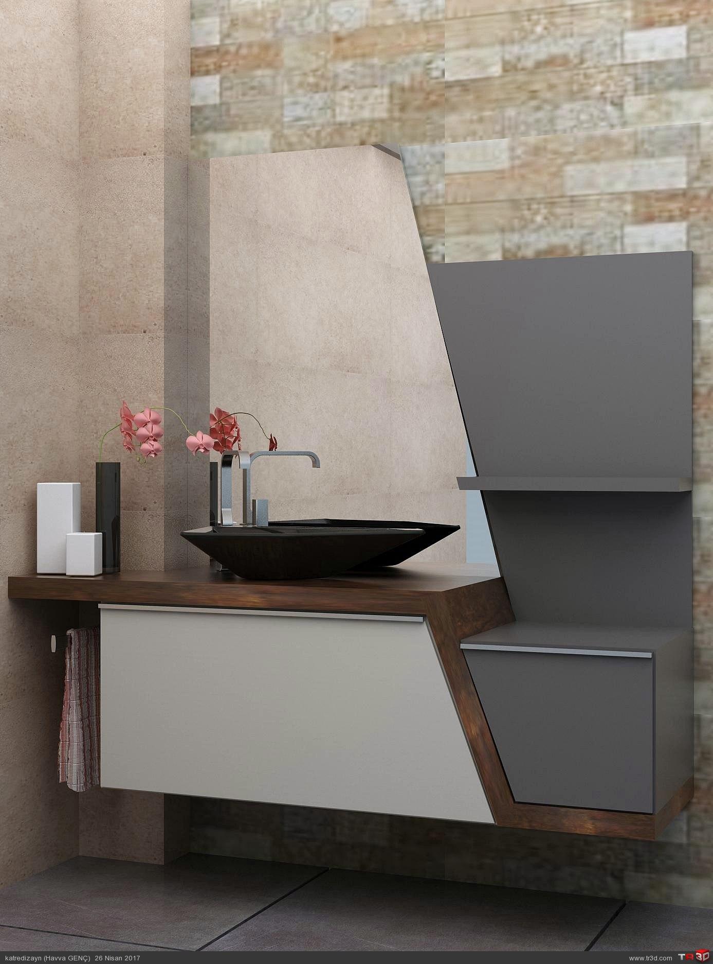 Özel banyo dolabı tasarımı