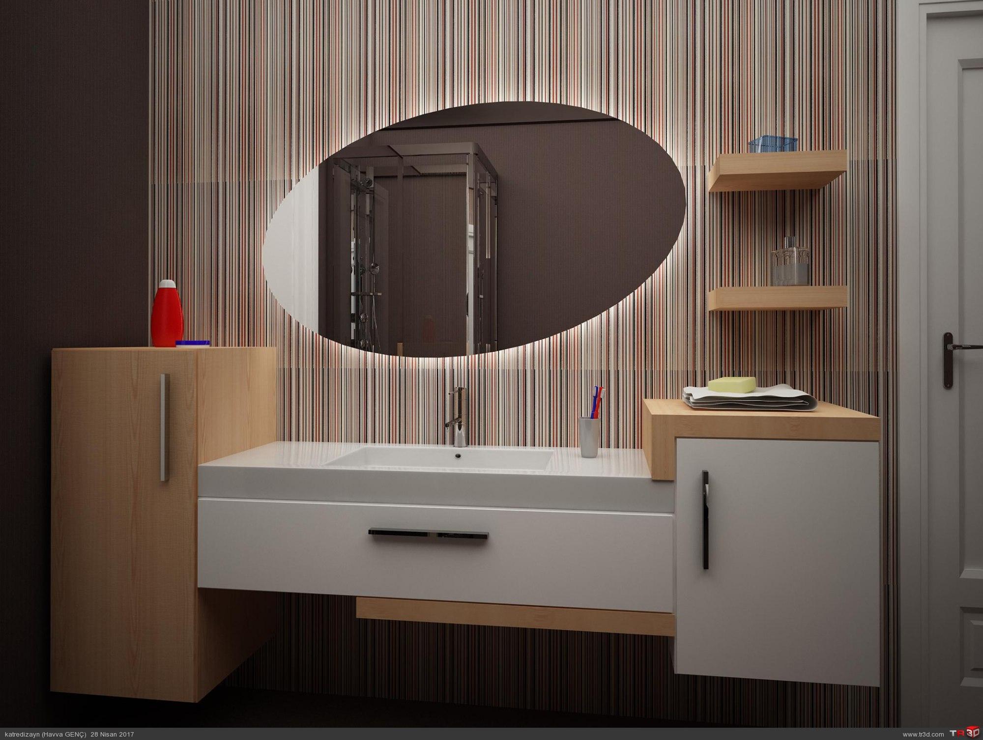 Modern banyo dolabı