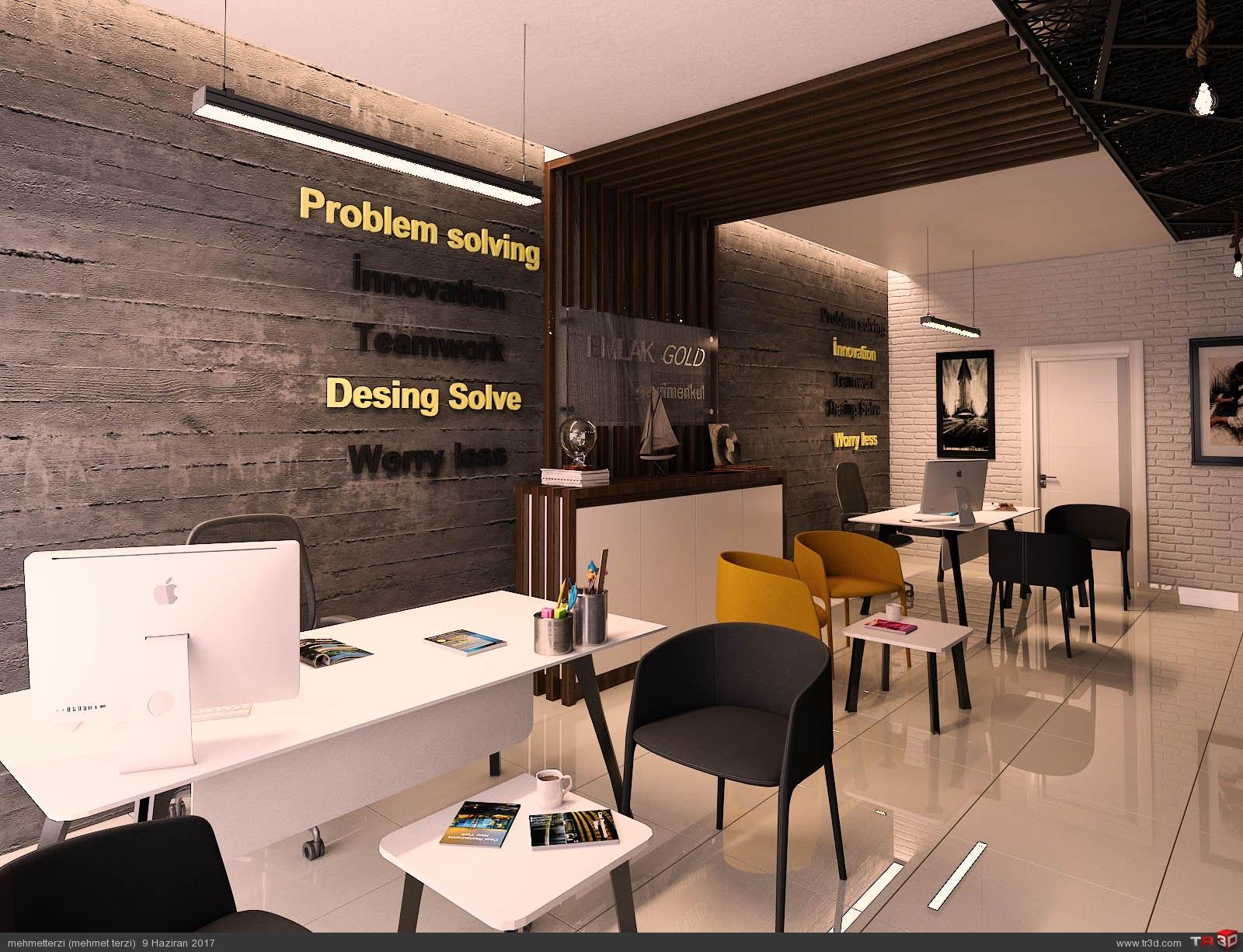 M.K emlak ofisi tasarımı