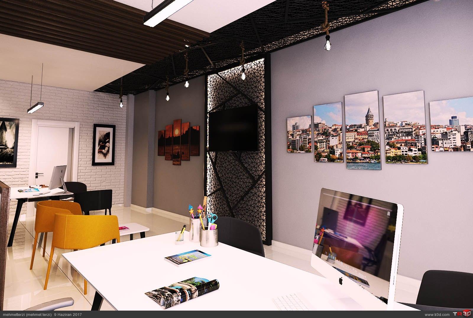 M.K emlak ofisi tasarımı 1