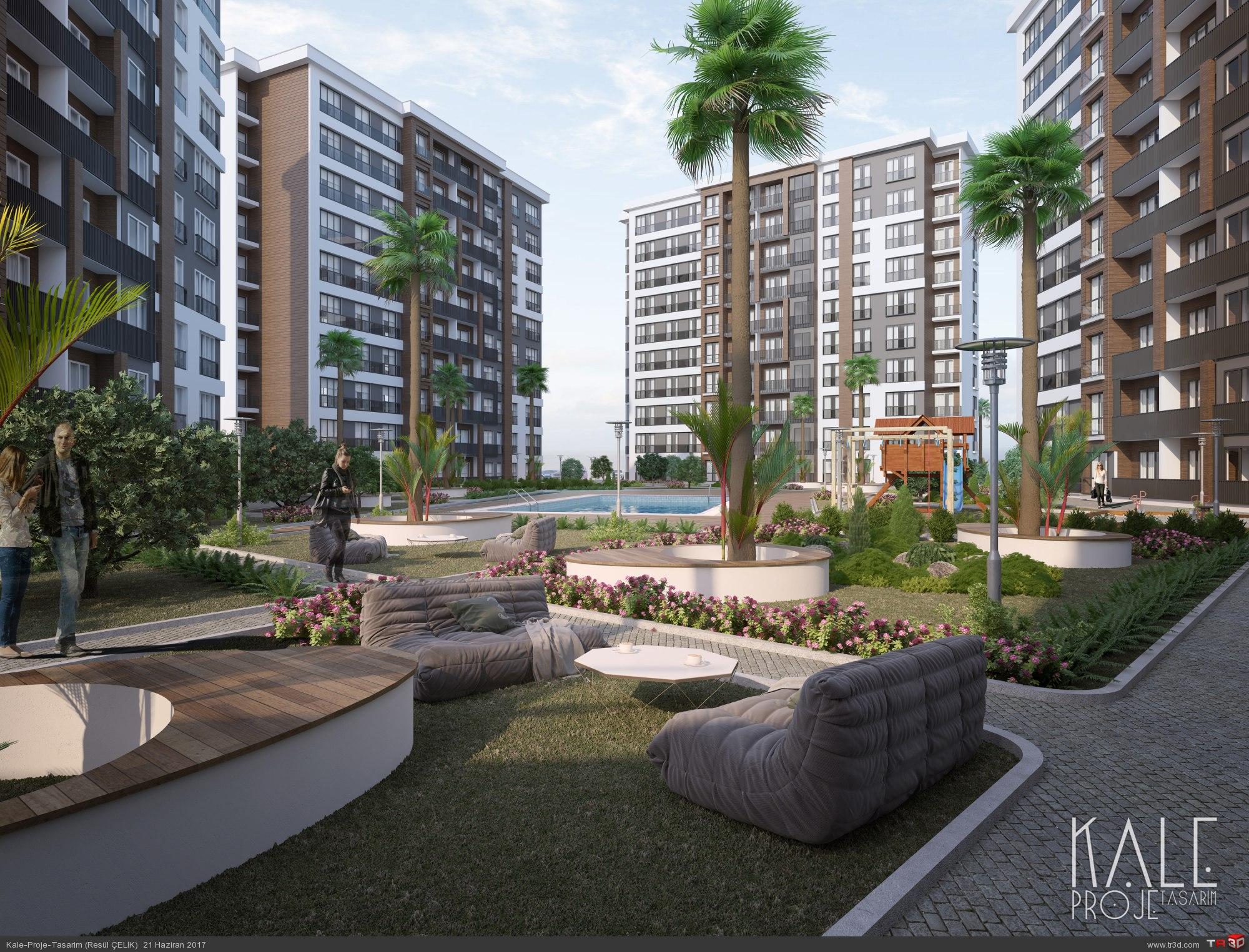 KAle proje - İstanbul 6 Blok Konut projesi tasarımı.