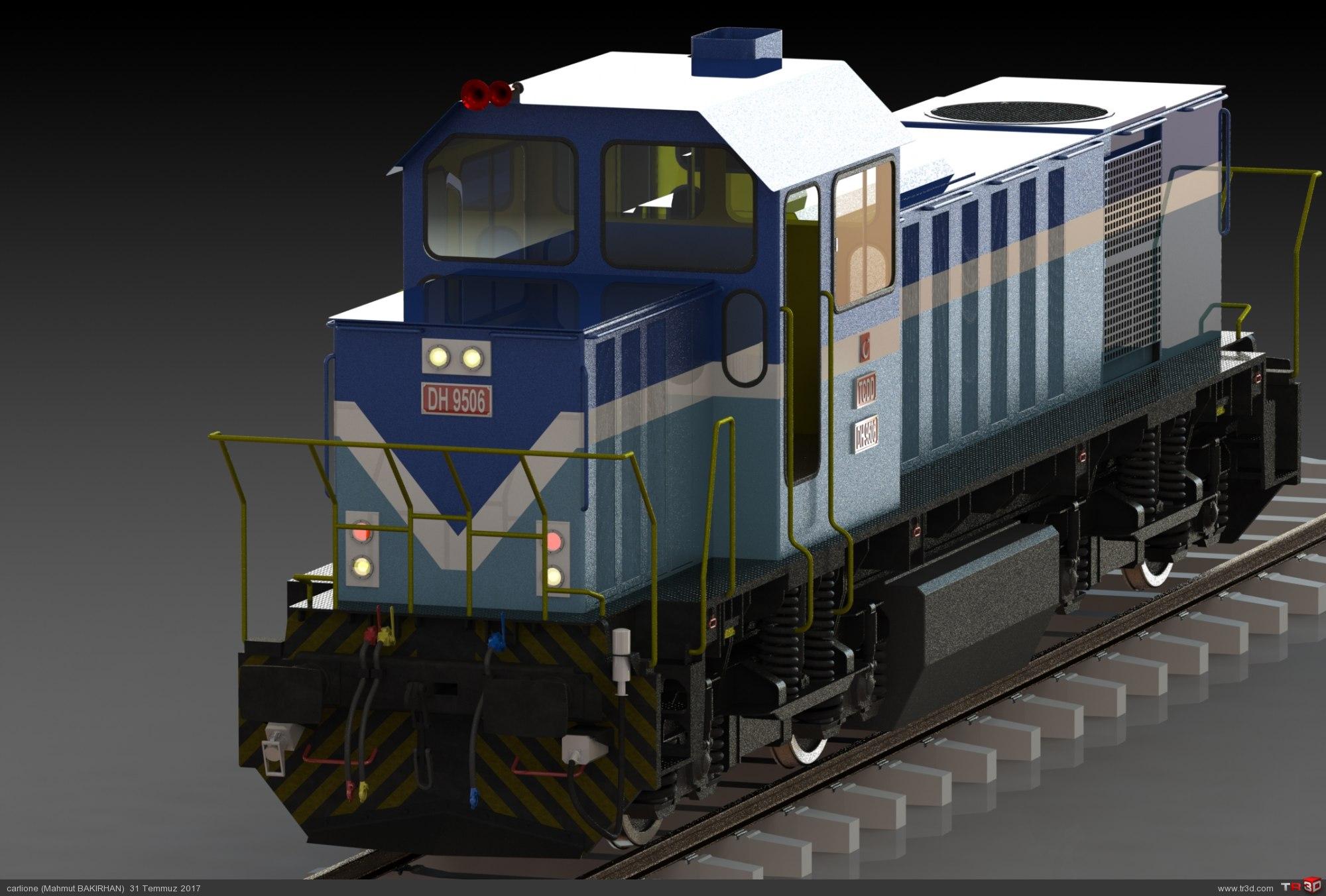 DH 9500 Manevra lokomotifi 1