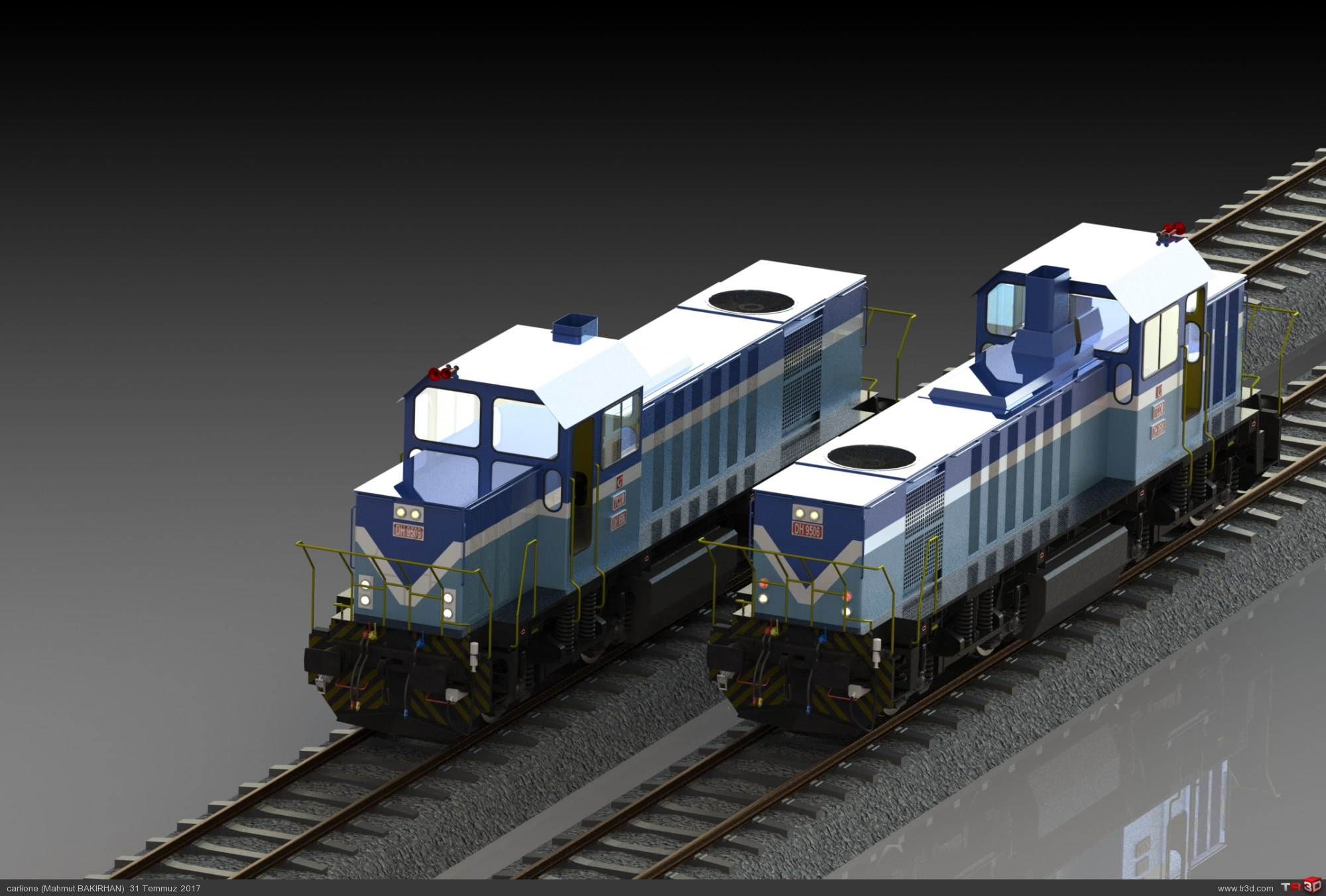 DH 9500 Manevra lokomotifi 3