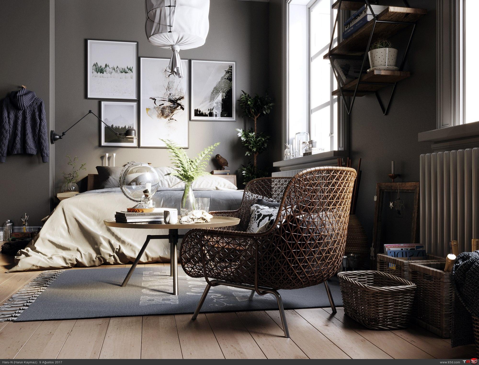 Brown Bedroom 1