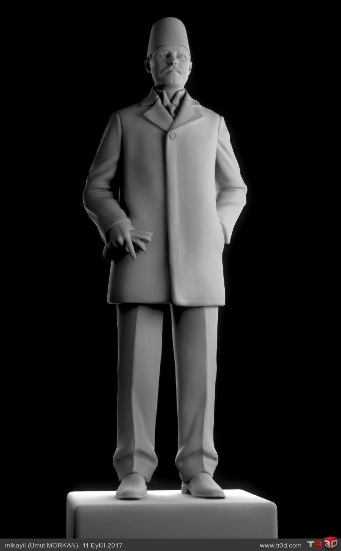 3D Heykel Boğazlıyan Kaymakamı Millî Şehit Kemal Bey