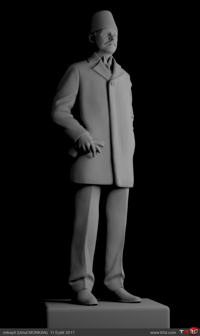 3D Heykel Boğazlıyan Kaymakamı Millî Şehit Kemal Bey  1