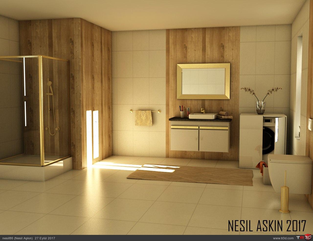 gold bathroom 1