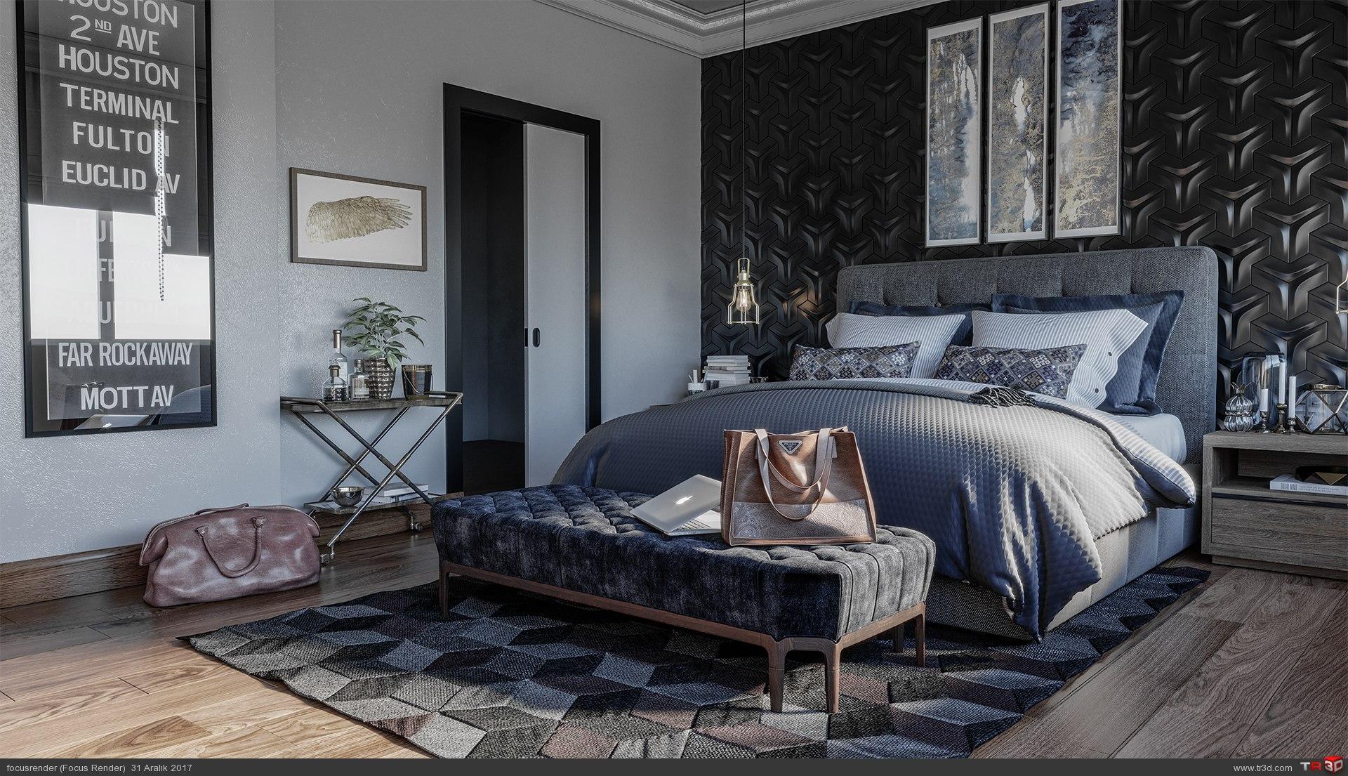 İsveç Stili Yatak Odası