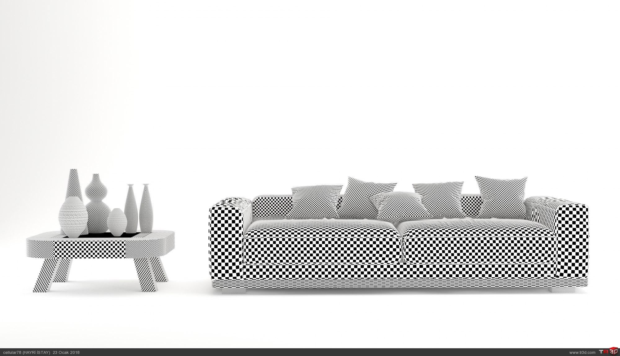 sofa 3d cgi 3