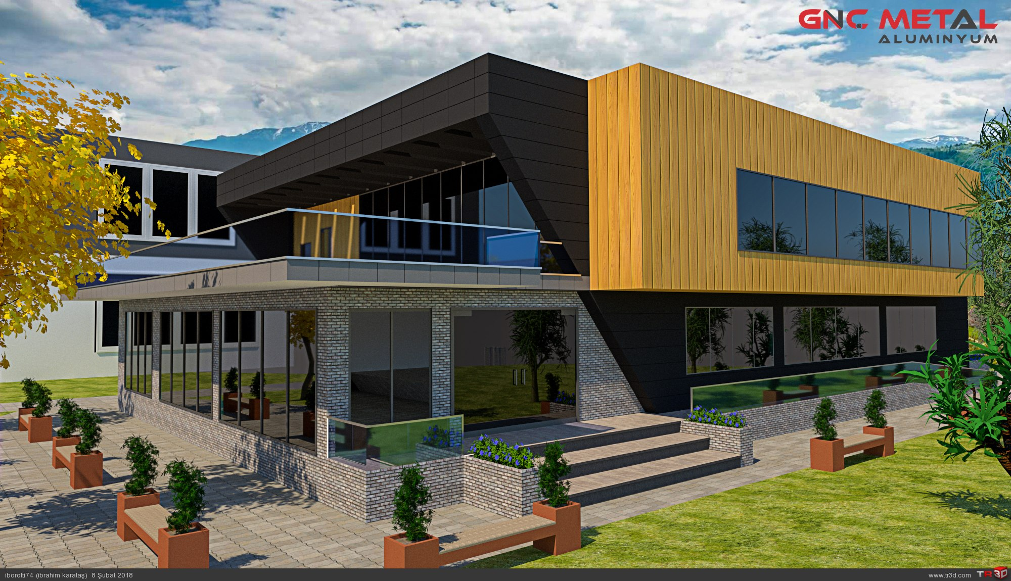 Kültür merkezi dış cephe tasarımı