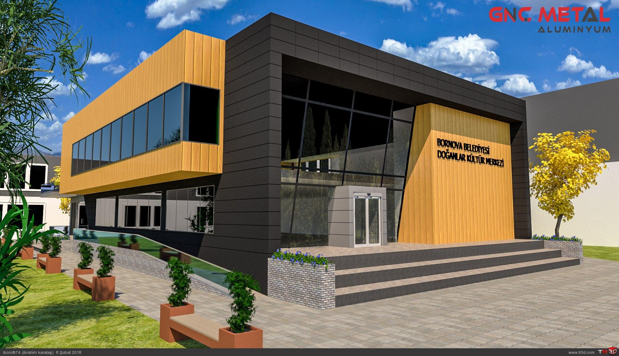 Kültür merkezi dış cephe tasarımı 1
