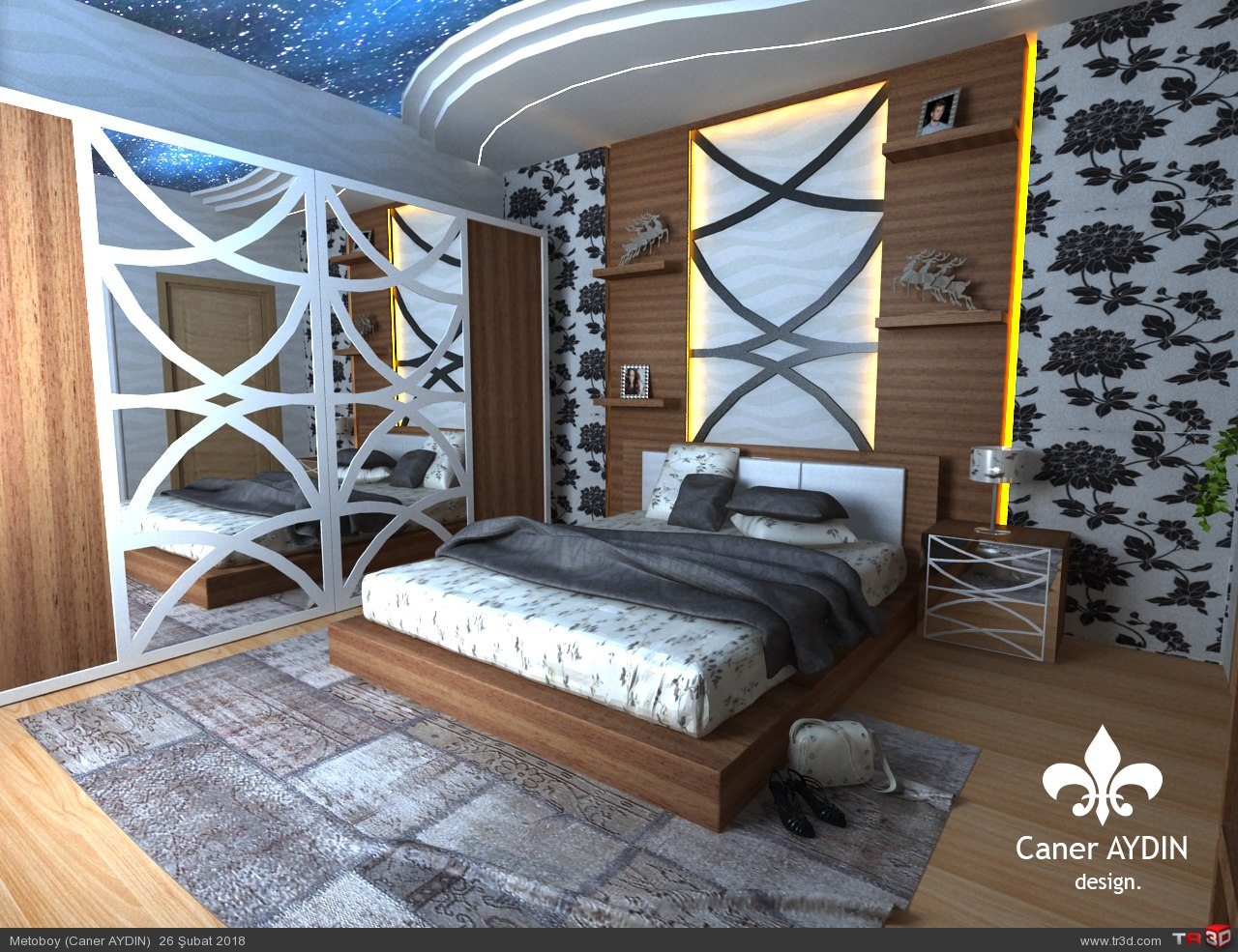 Yatak Odası Render