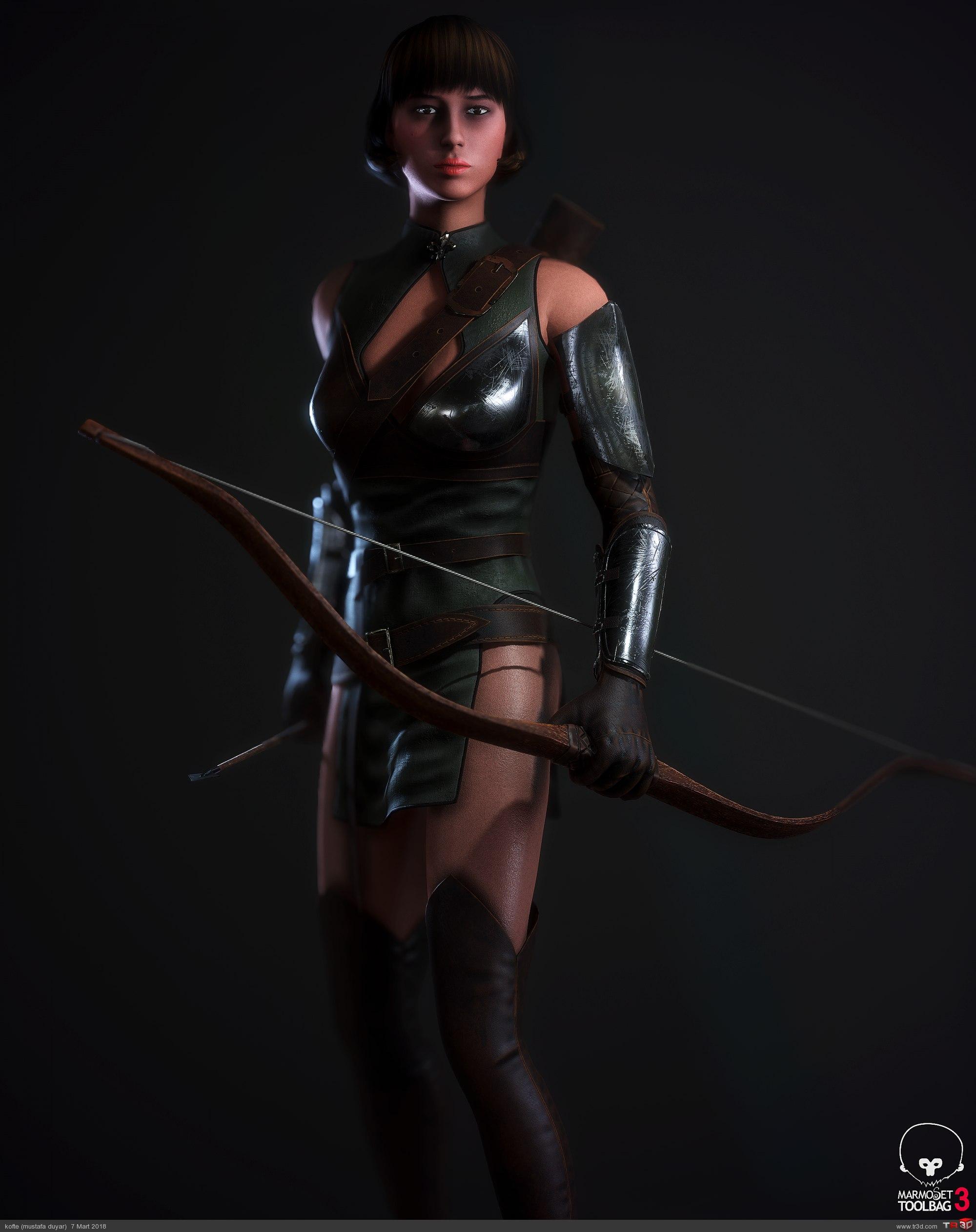 Avcı Kadın - real time karakter